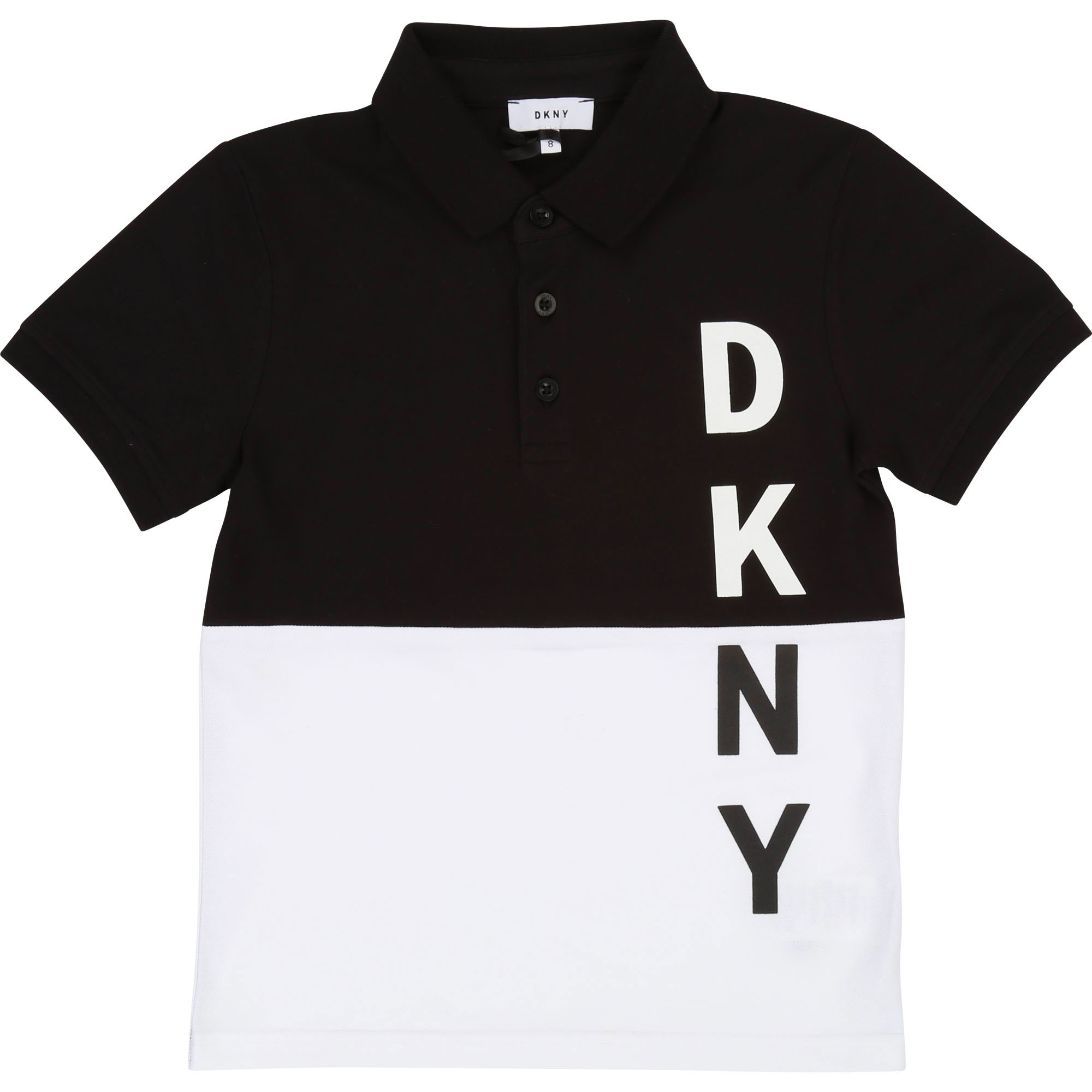 Two-tone cotton logo polo DKNY for BOY