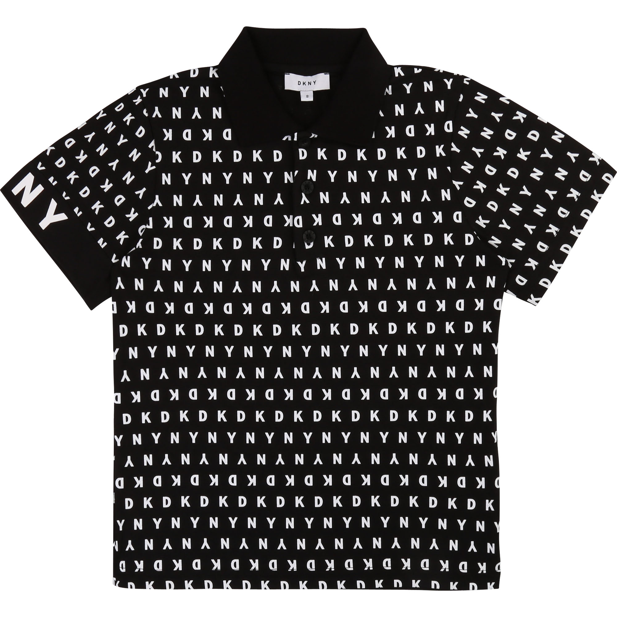Polo en coton imprimé all-over DKNY pour GARCON