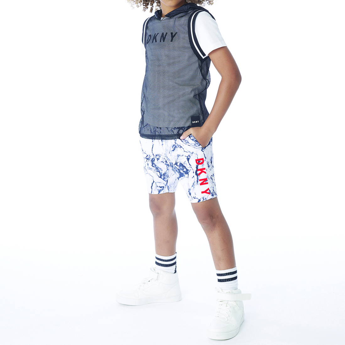 Basketball-style vest top DKNY for BOY