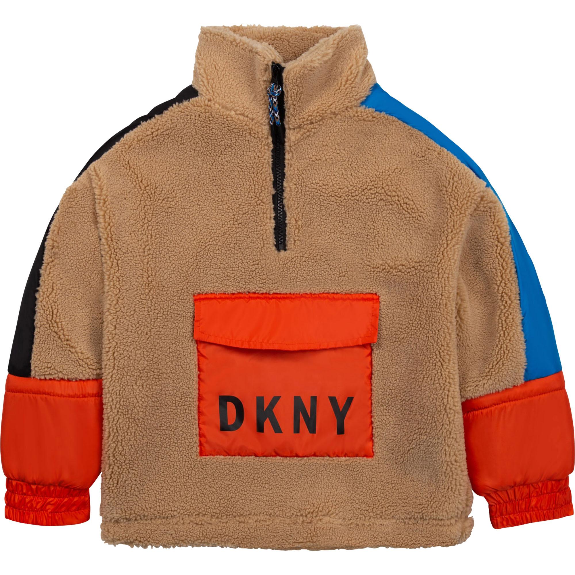 Blouson sweat imitation sherpa DKNY pour GARCON