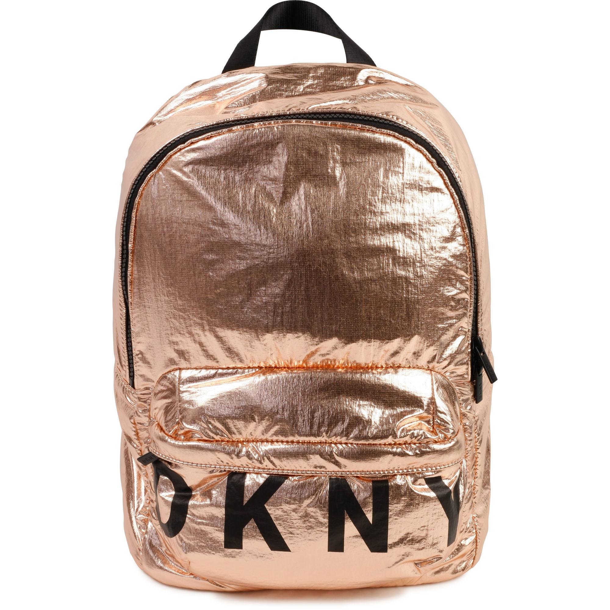 Sac à dos métallisé DKNY pour FILLE