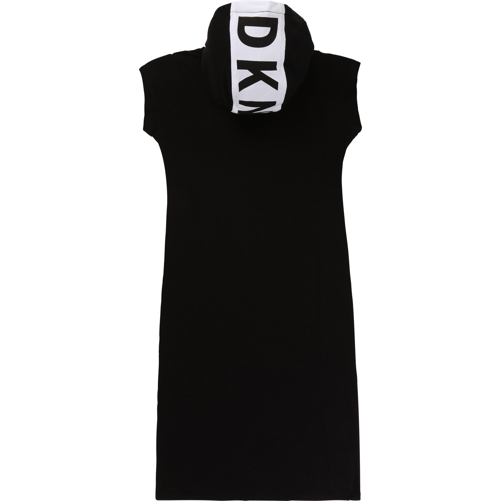 Maxi dress with logo and hood DKNY for GIRL