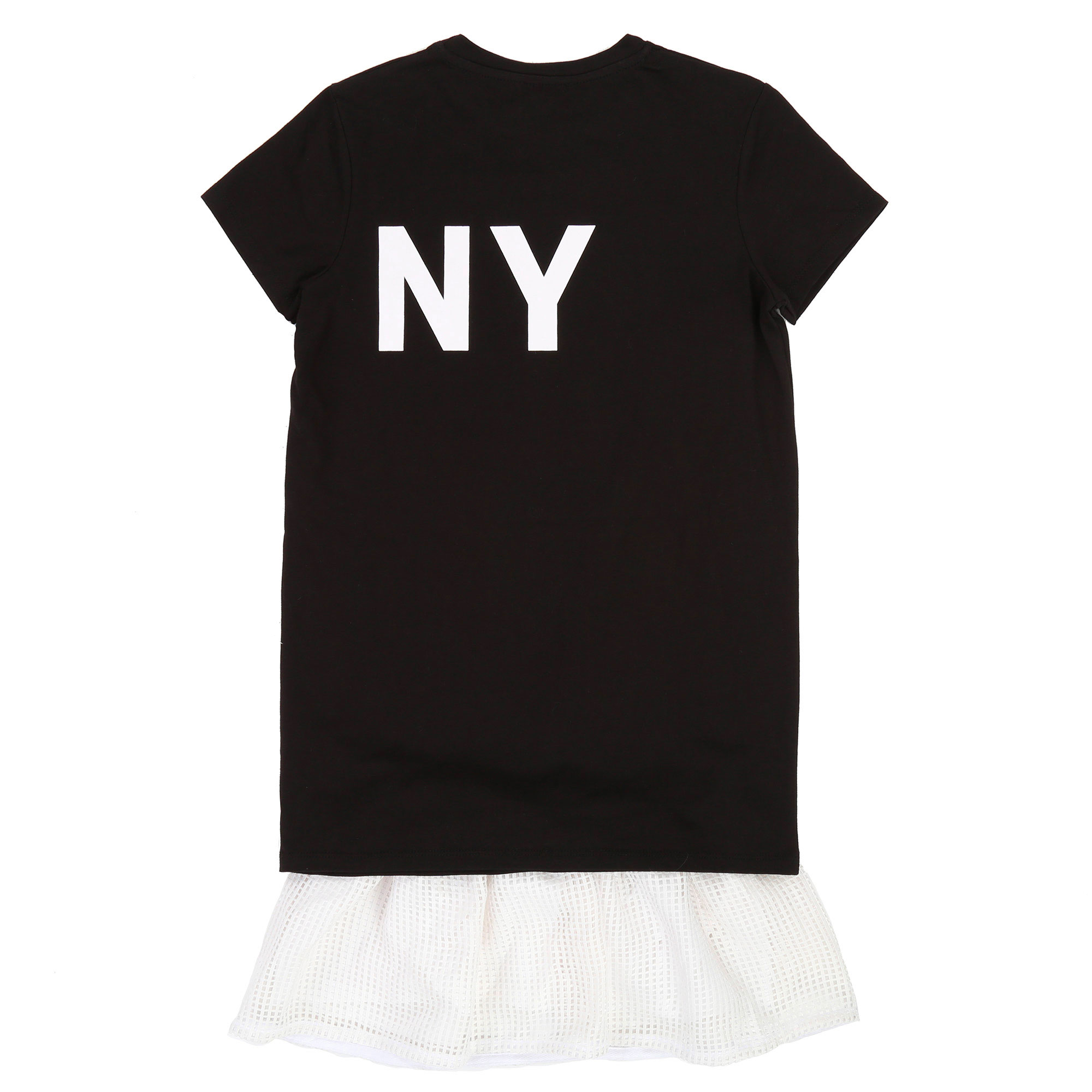2-in-1 dress with mesh bottom DKNY for GIRL