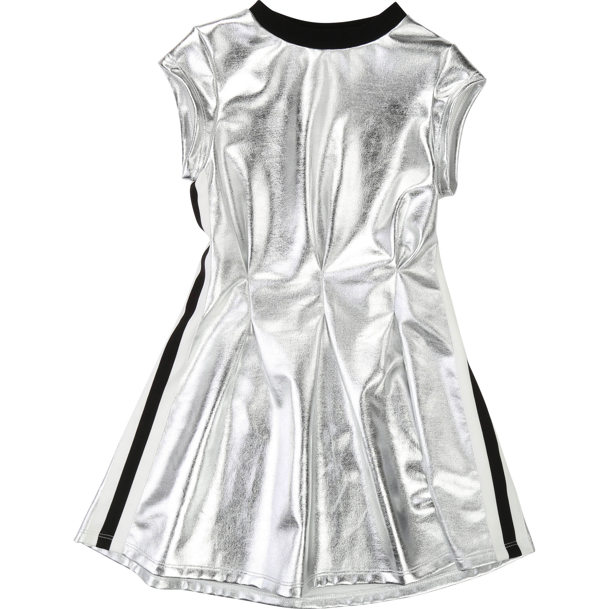 Silver dress with stripes DKNY for GIRL