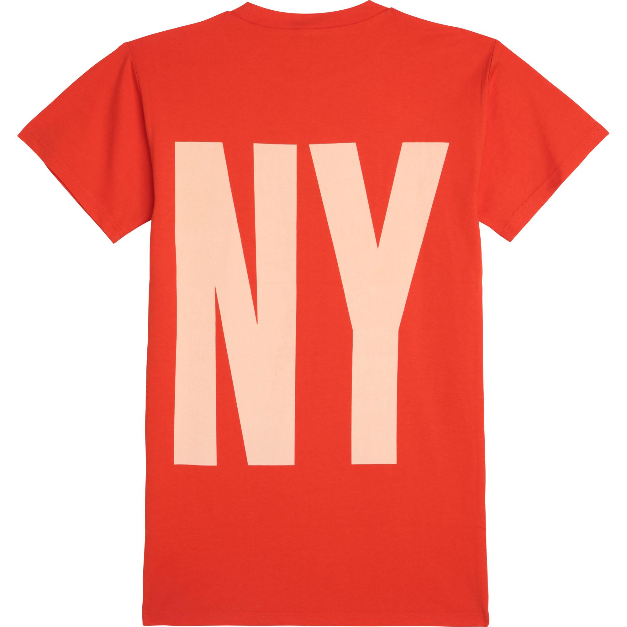 Robe logo coton biologique DKNY pour FILLE