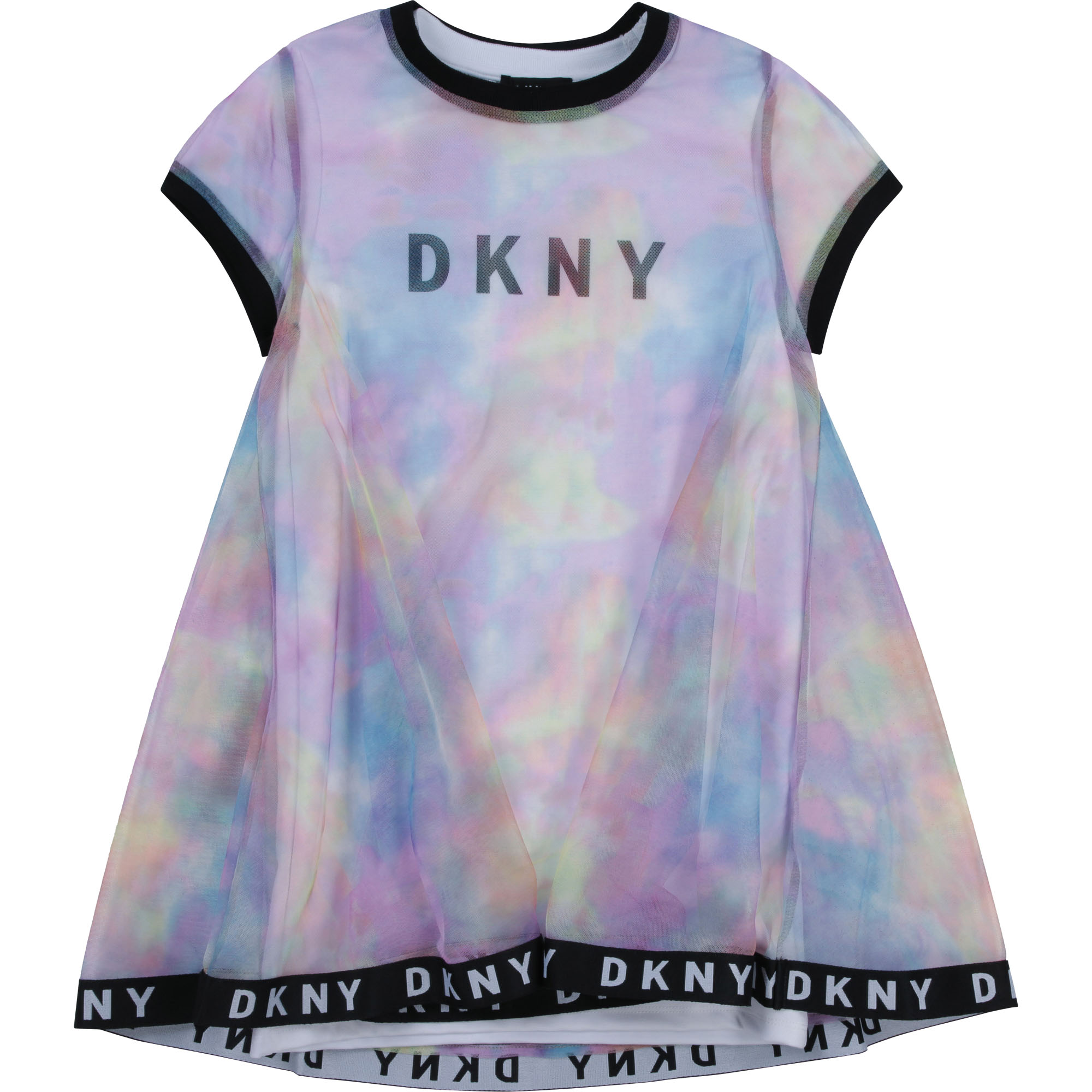 Robe 2-en-1 mesh et milano DKNY pour FILLE