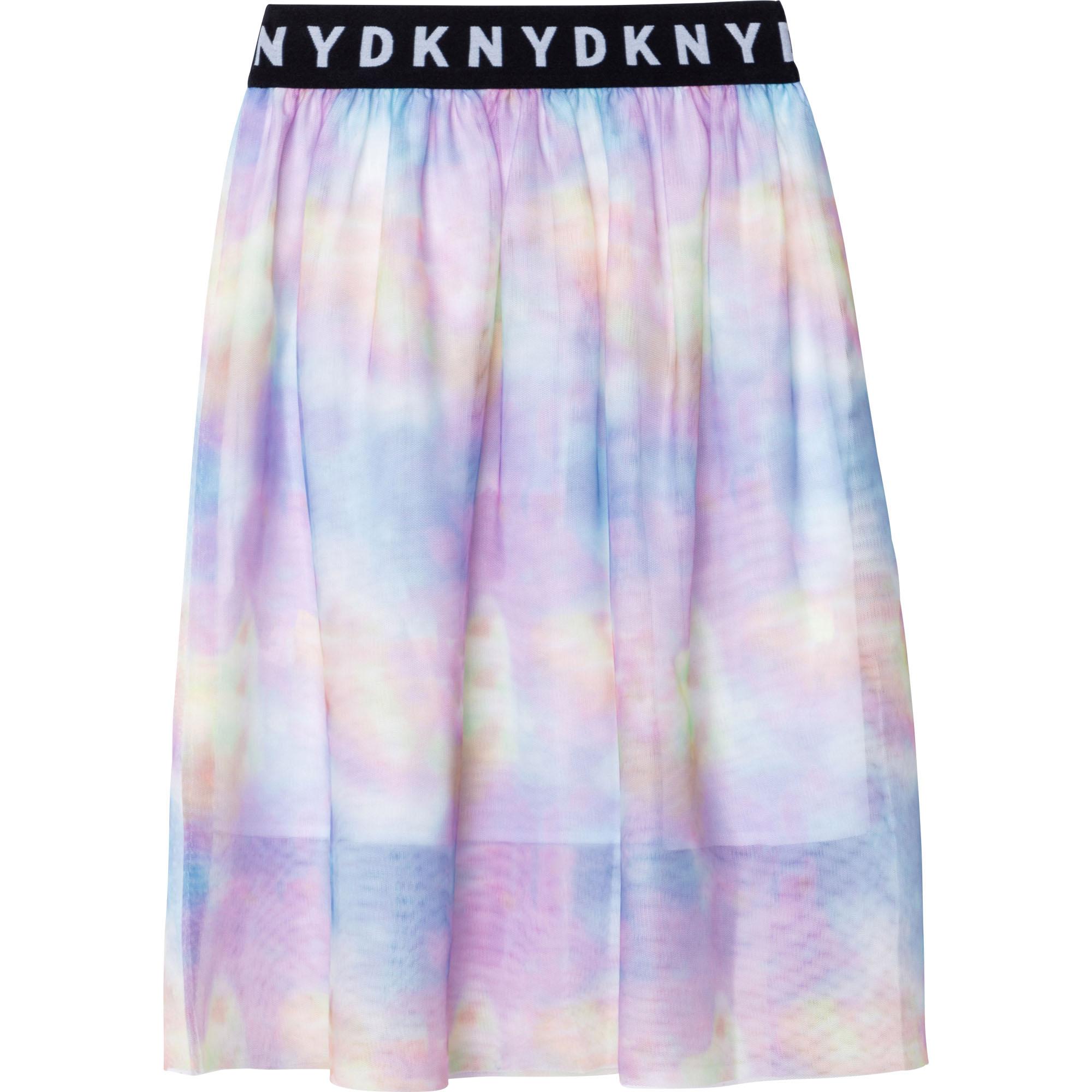 Jupe en mesh imprimé DKNY pour FILLE