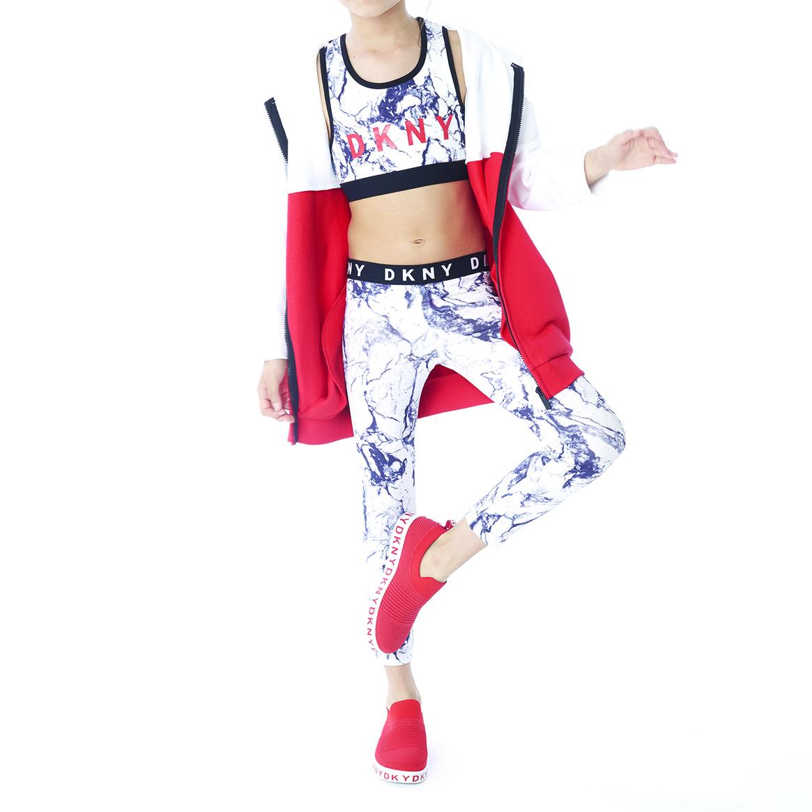 Legging élastique jacquard DKNY pour FILLE