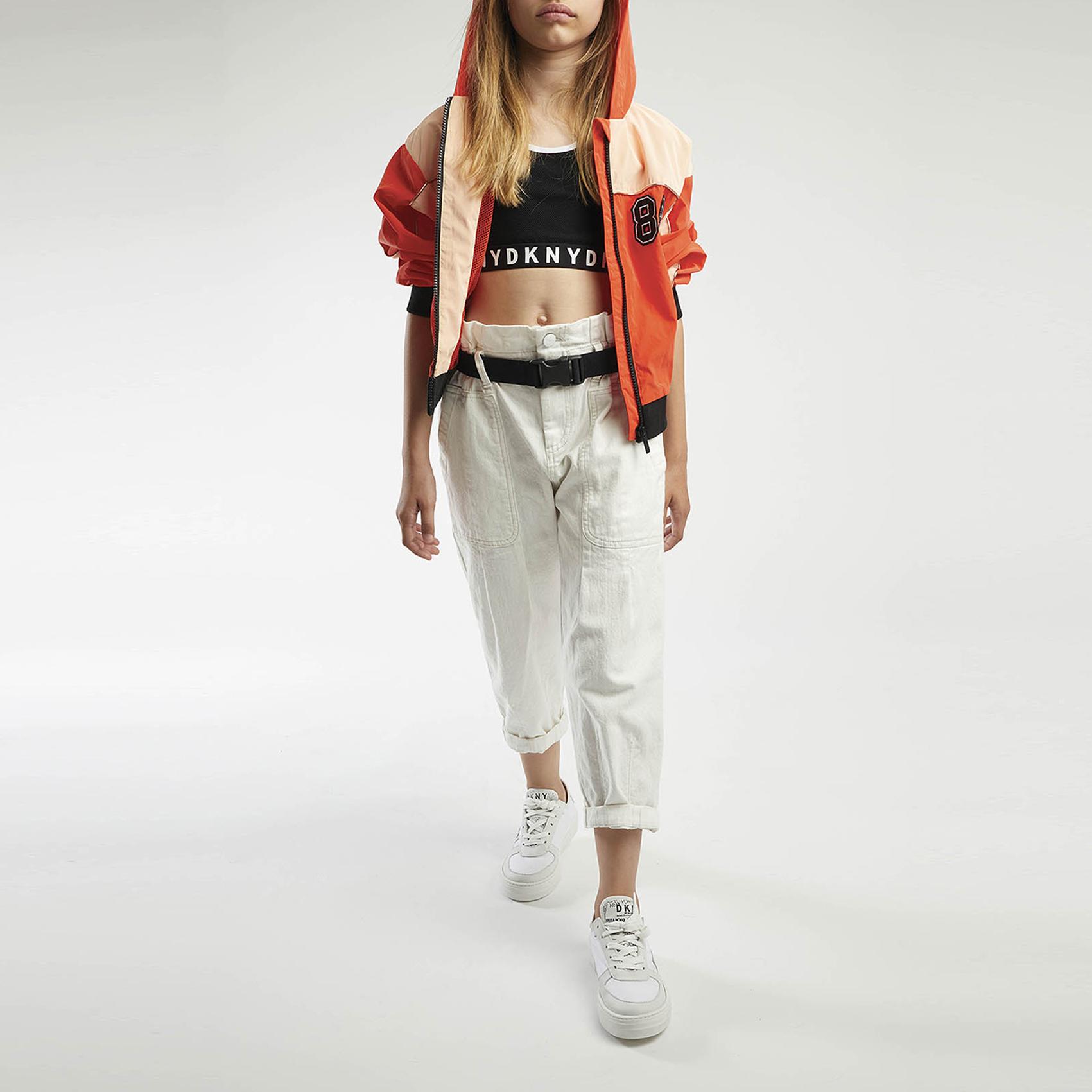 Pantalon large en drill coton DKNY pour FILLE