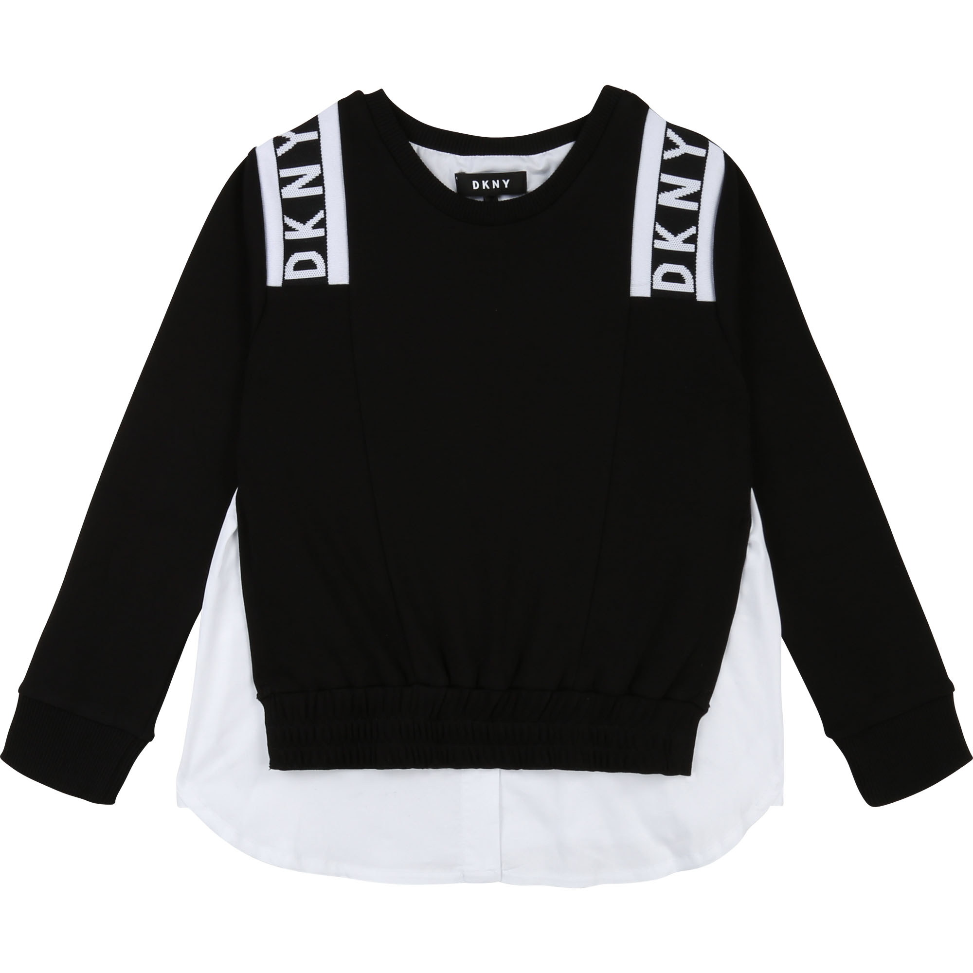Sweat coton 2 en 1 bicolore DKNY pour FILLE