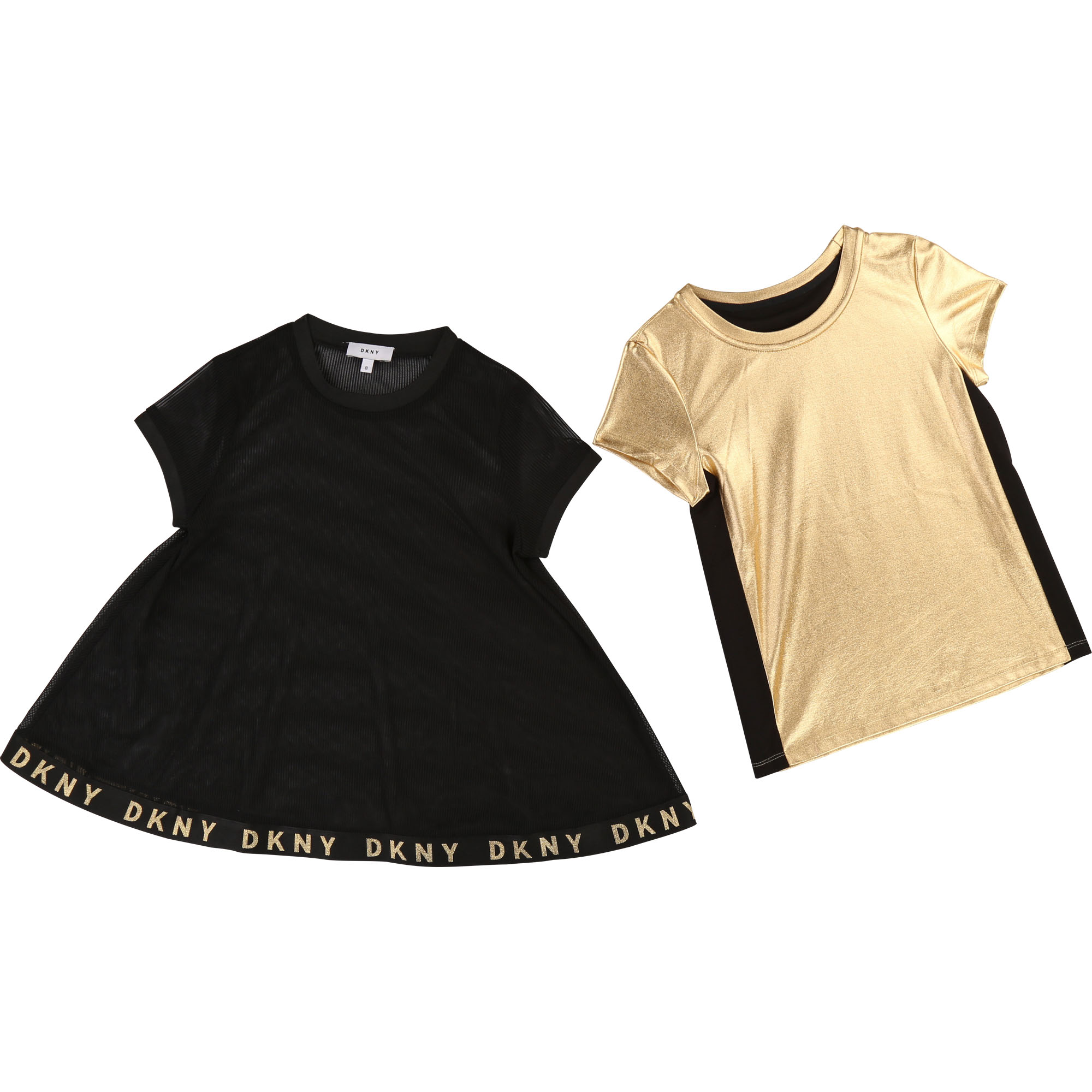 Dual-fabric blouse and T-shirt DKNY for GIRL