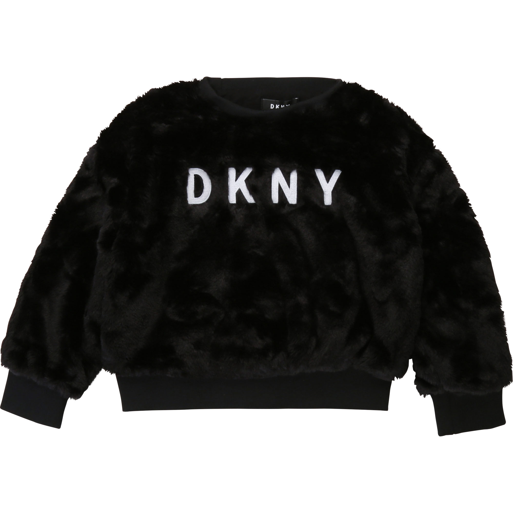 Sweat pilou brodé DKNY pour FILLE