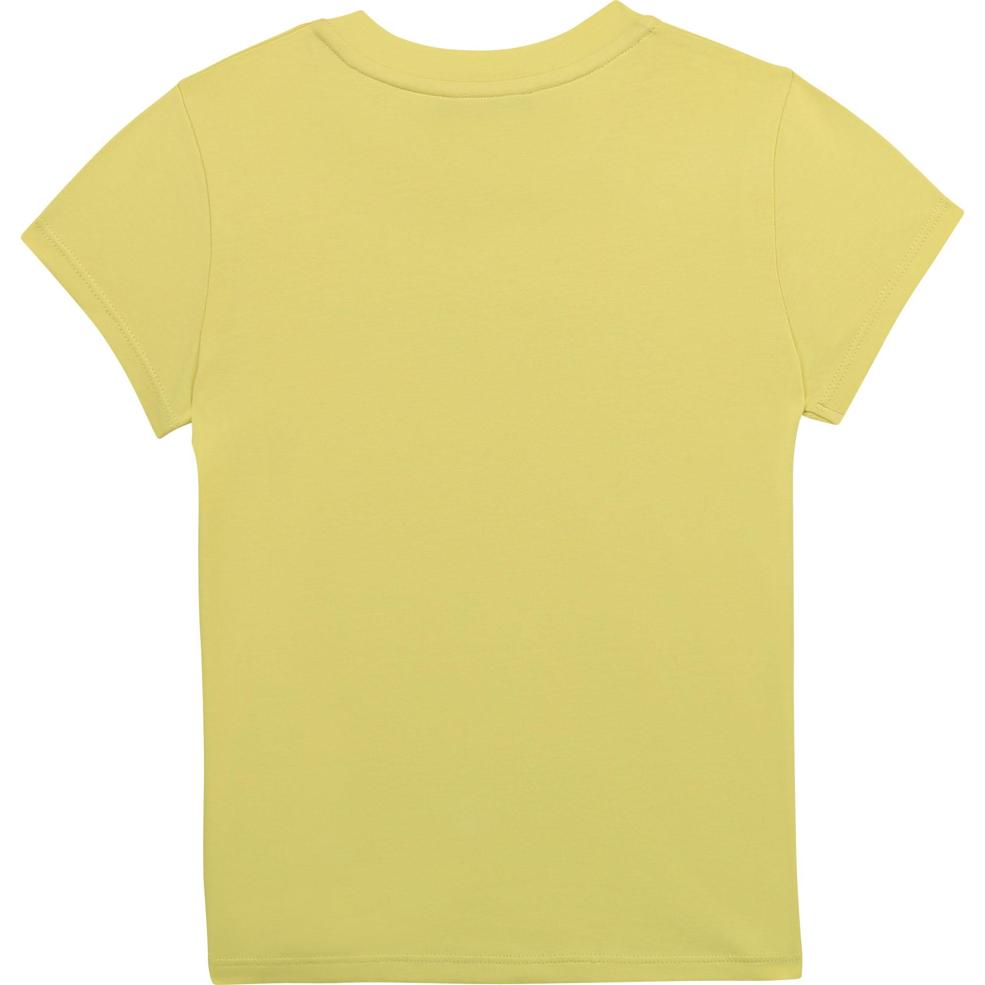 T-shirt en coton biologique DKNY pour FILLE