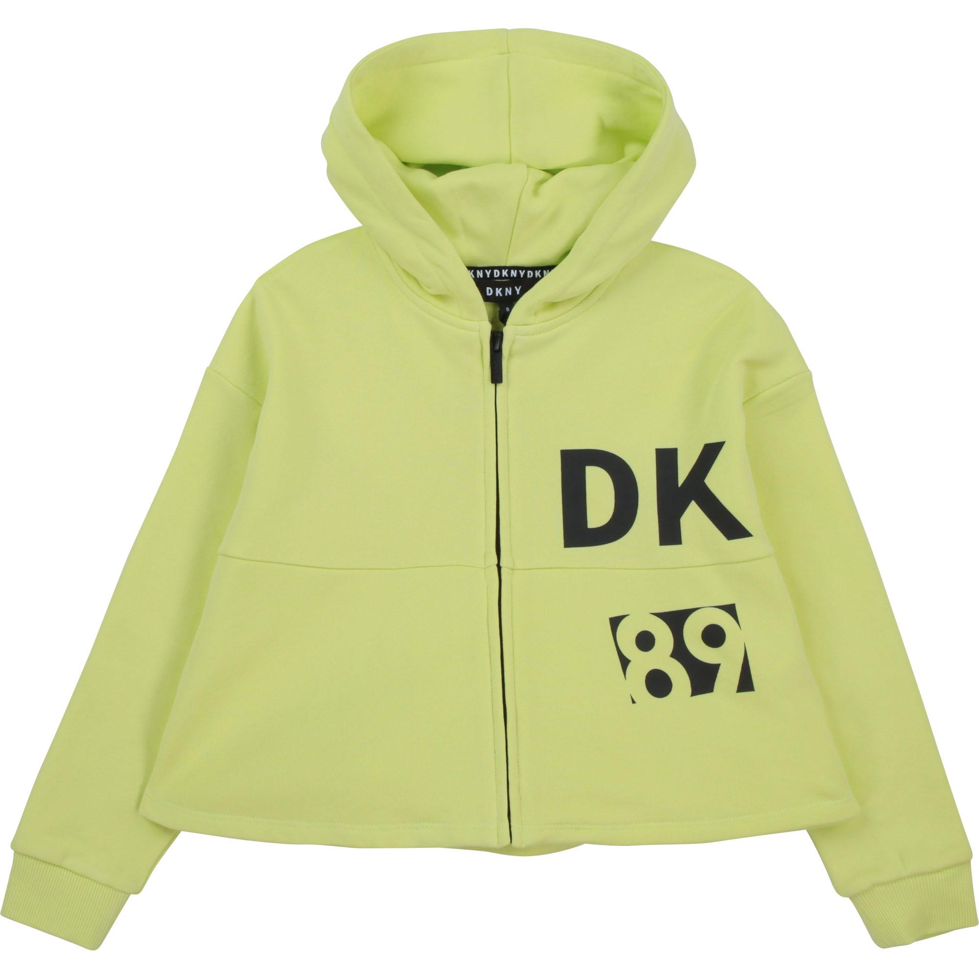 Cardigan à capuche en molleton DKNY pour FILLE