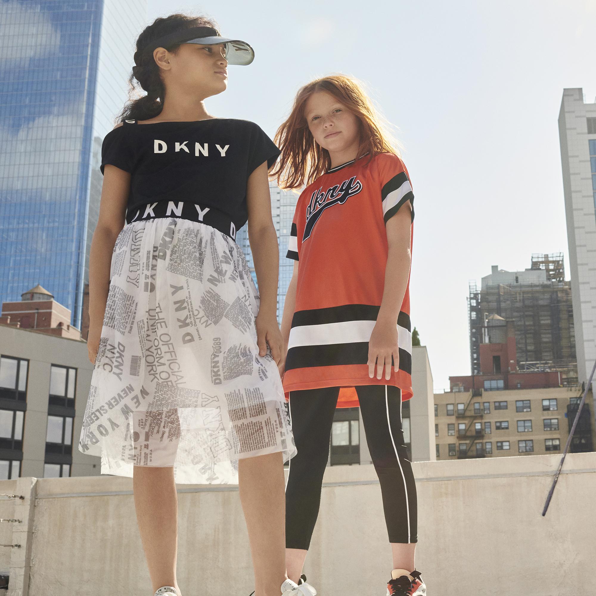 T-shirt à bretelle élastiquée DKNY pour FILLE