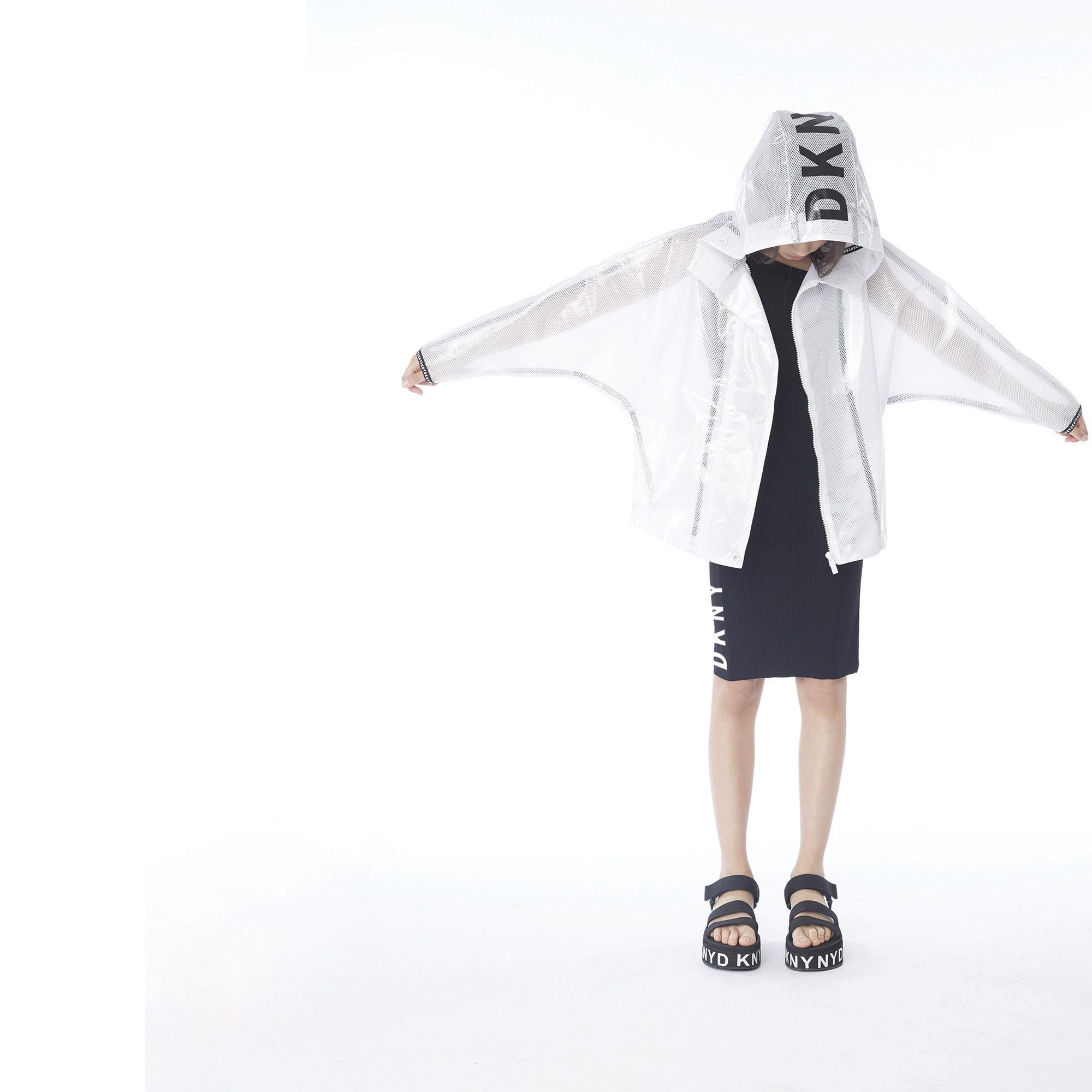 Ciré à capuche transparent DKNY pour FILLE