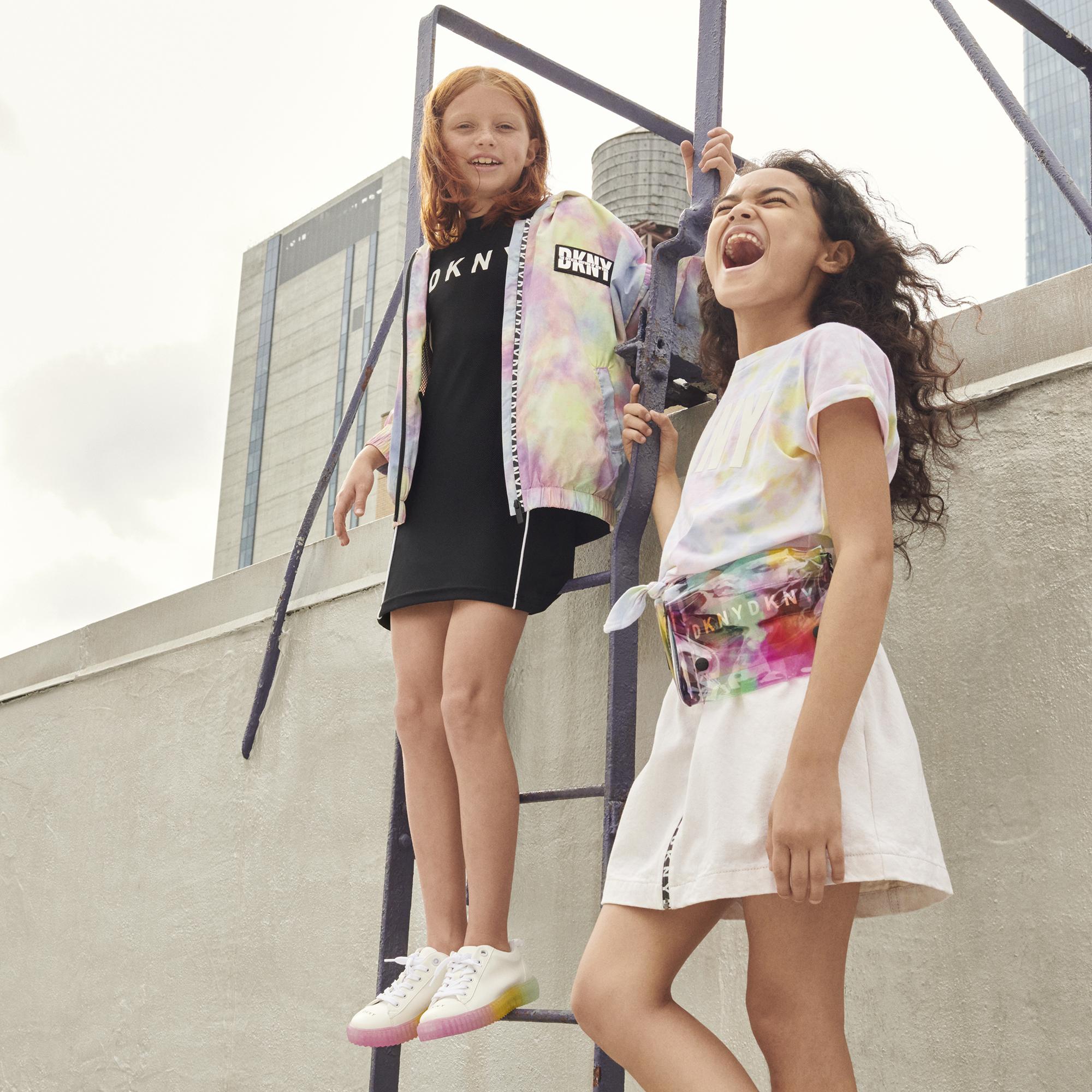Coupe-vent déperlant à capuche DKNY pour FILLE