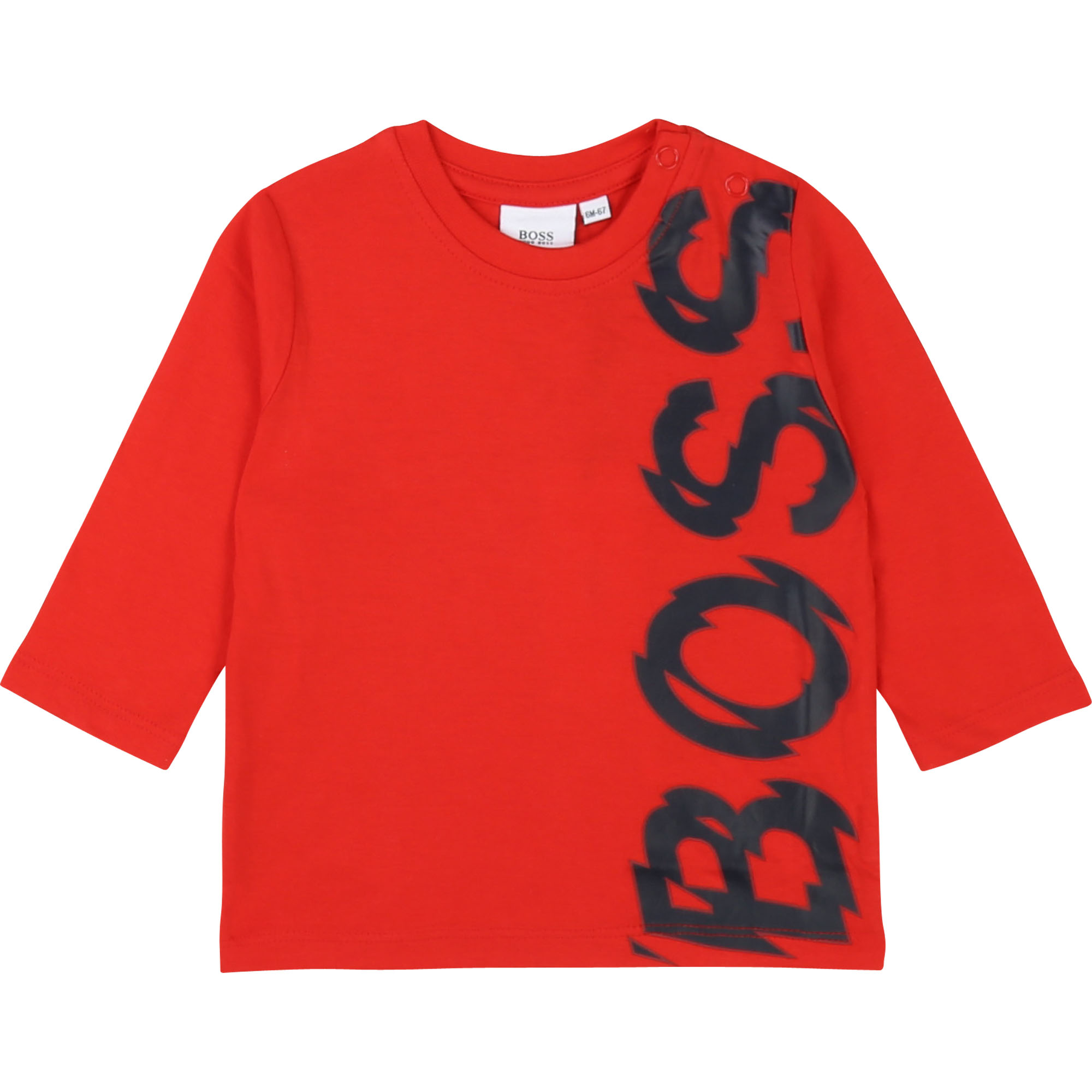 Crosshatched cotton T-shirt BOSS for BOY