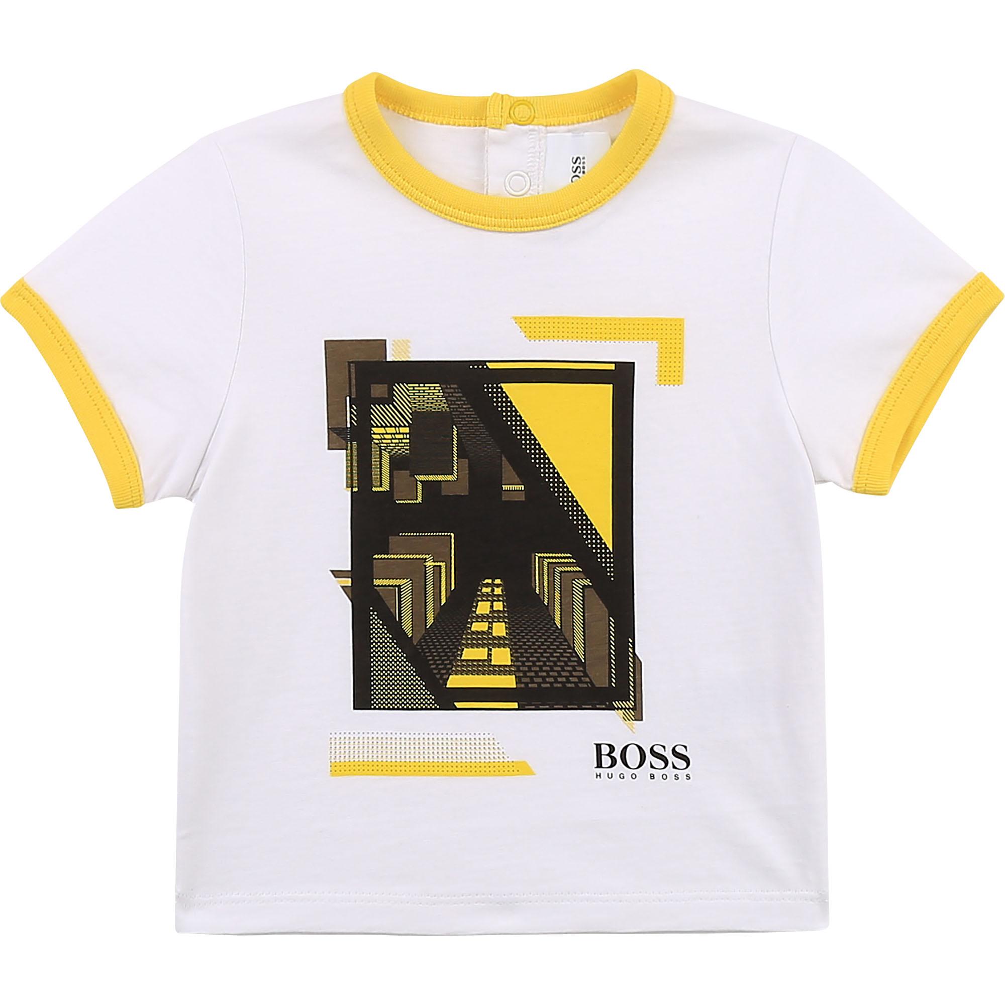 Cotton jersey T-shirt BOSS for BOY