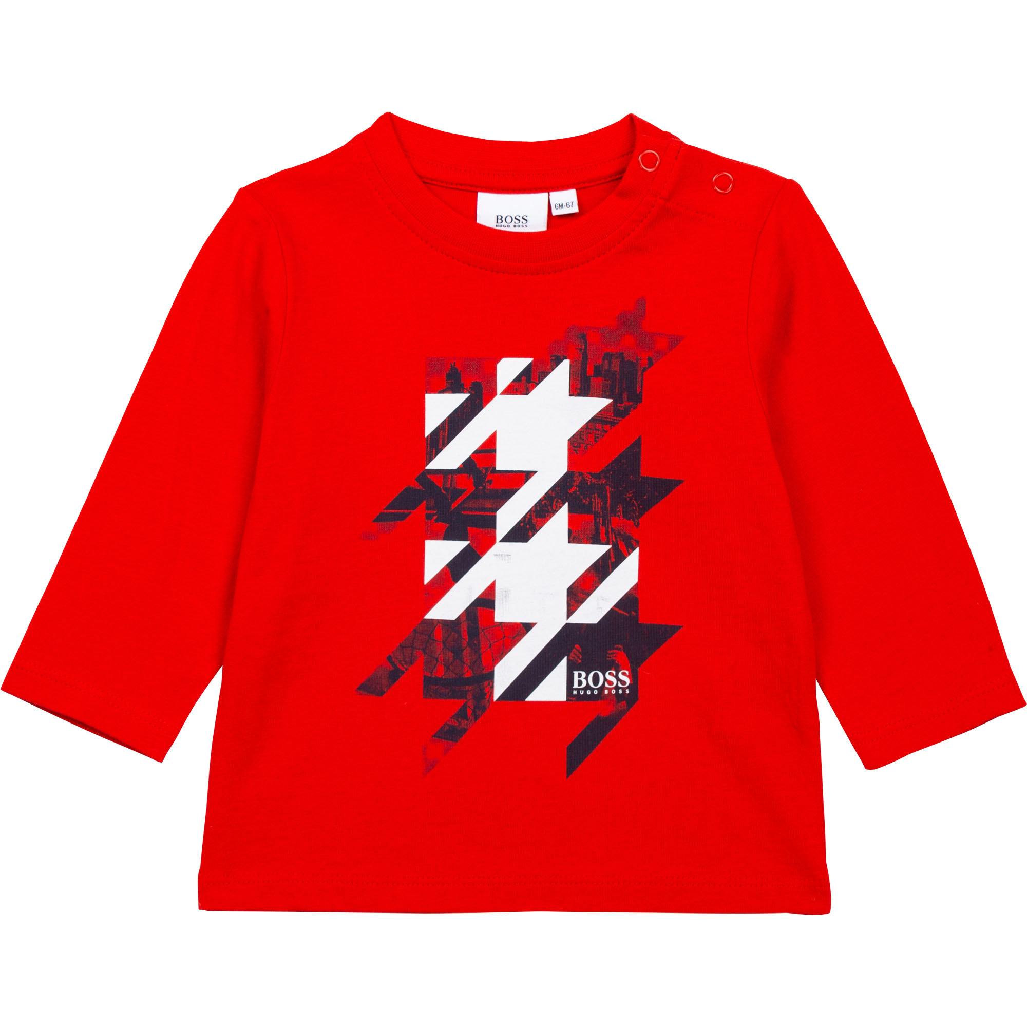 Long-sleeved cotton T-shirt BOSS for BOY