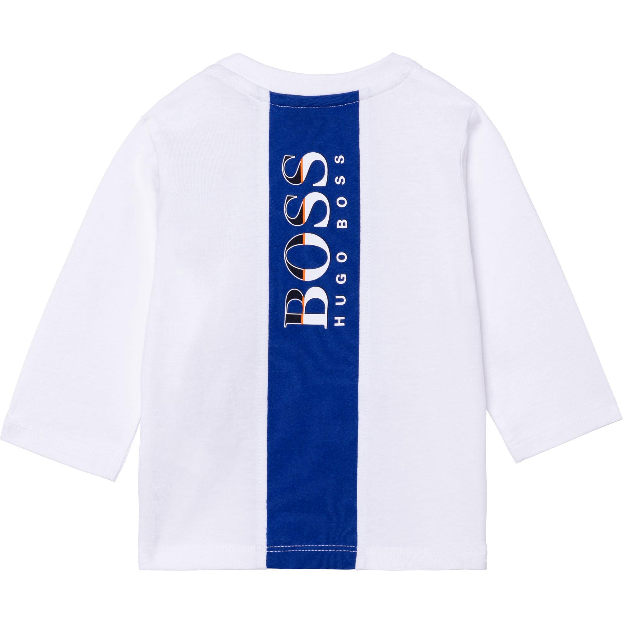 Long-sleeved jersey T-shirt BOSS for BOY