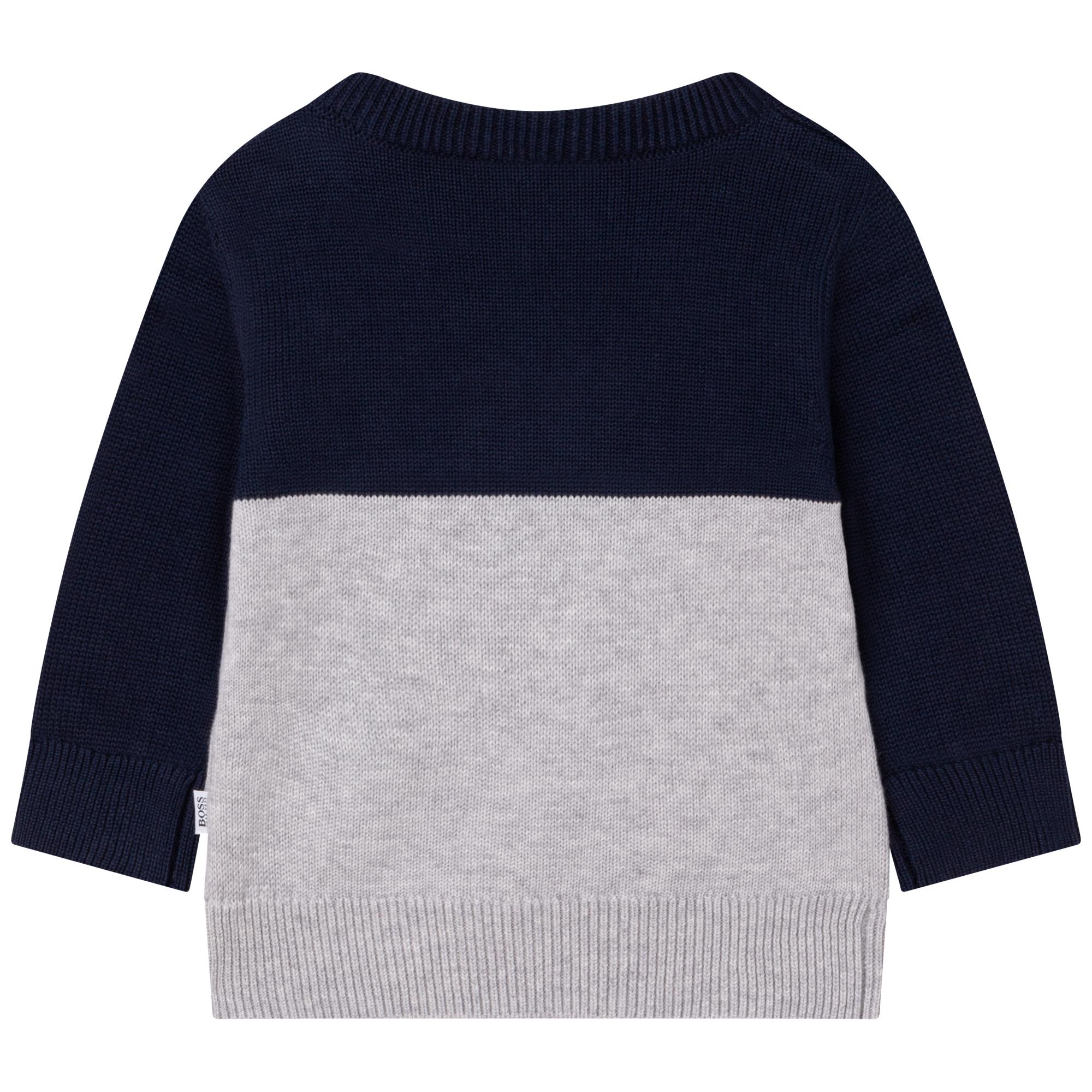 Pull tricoté 1% coton peigné BOSS pour GARCON