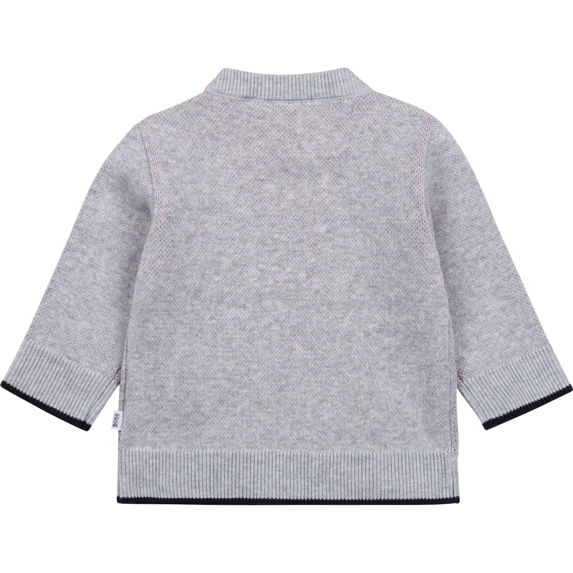 Cotton sweater with jacquard BOSS for BOY