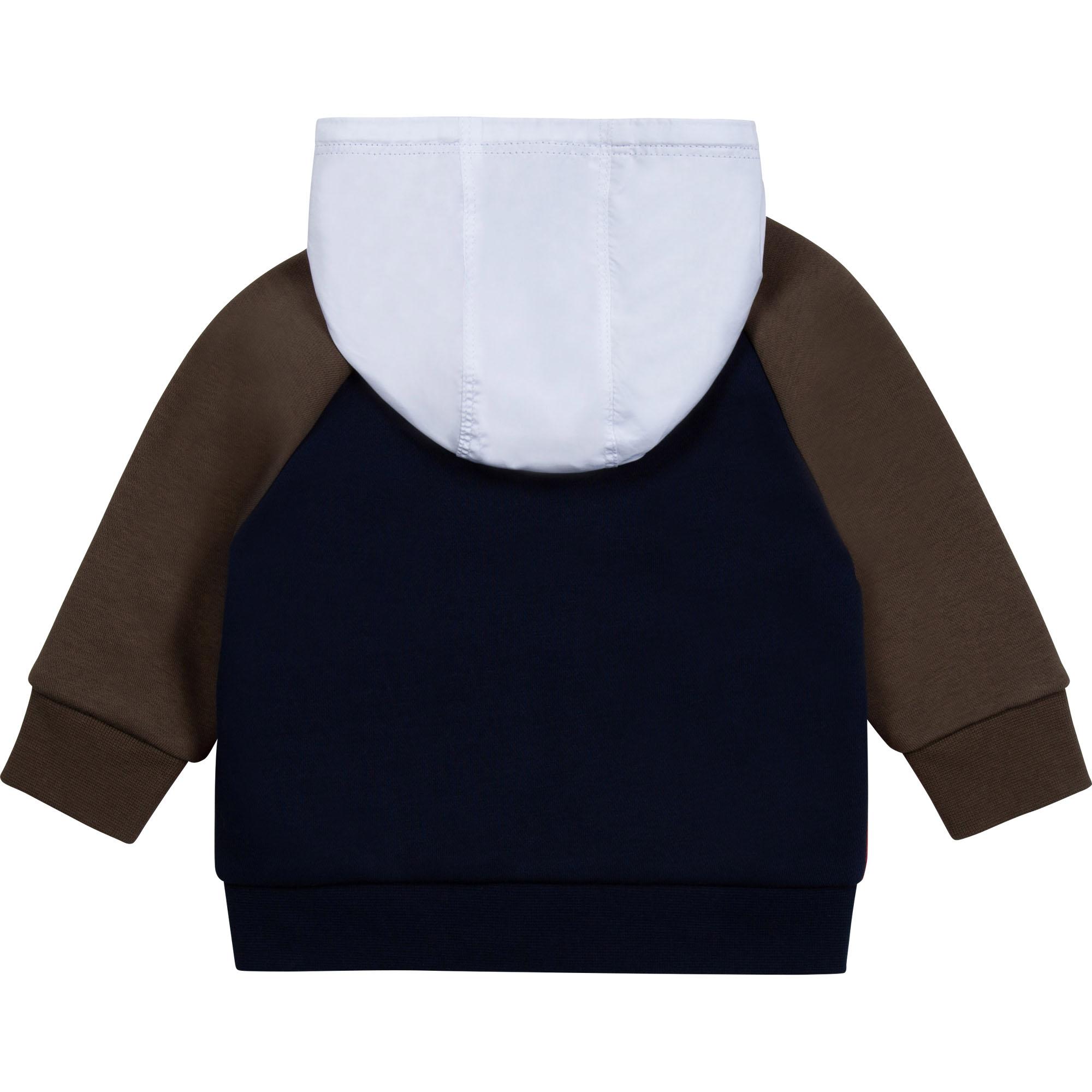 Cardigan zippé à capuche BOSS pour GARCON