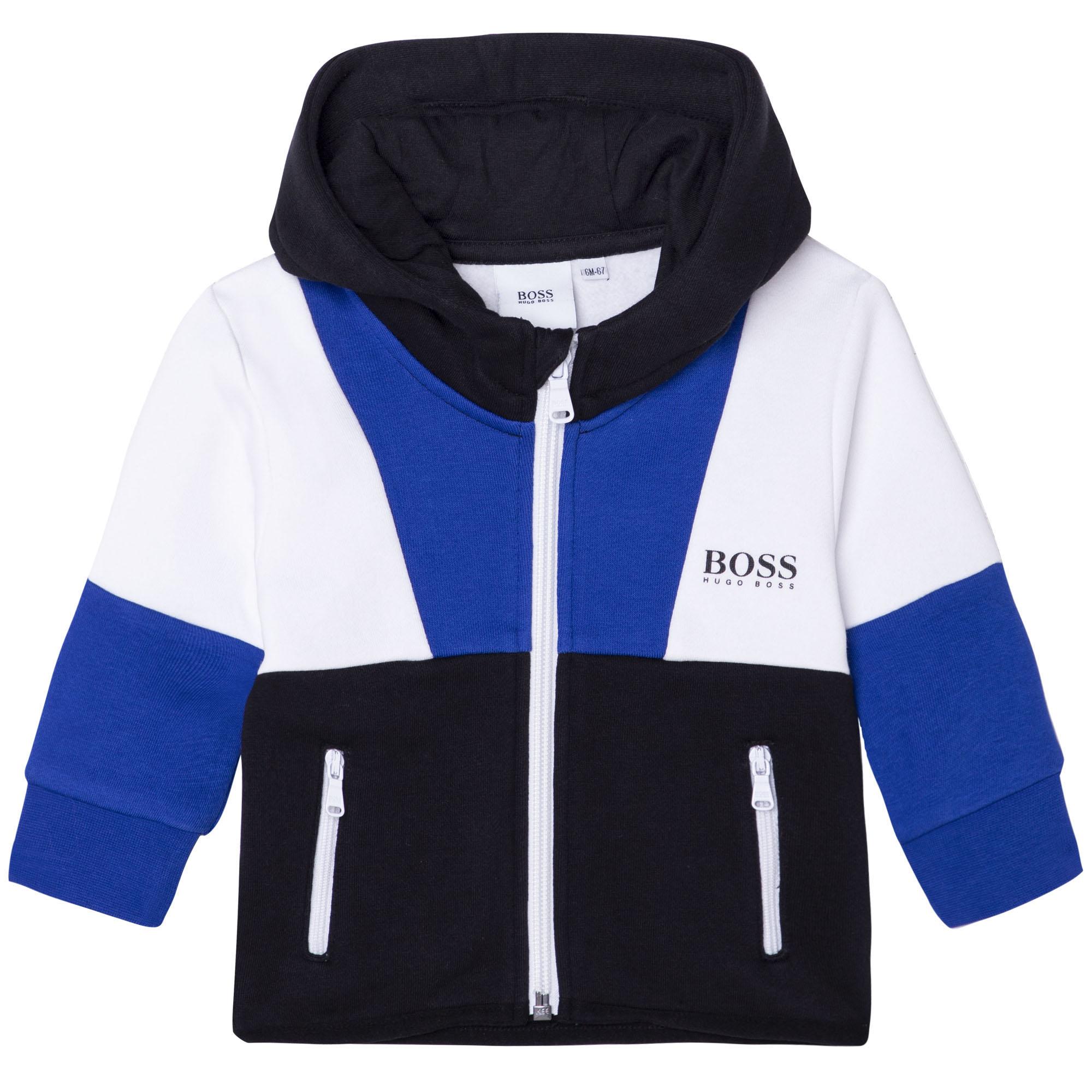 Zipped hooded sweatshirt BOSS for BOY