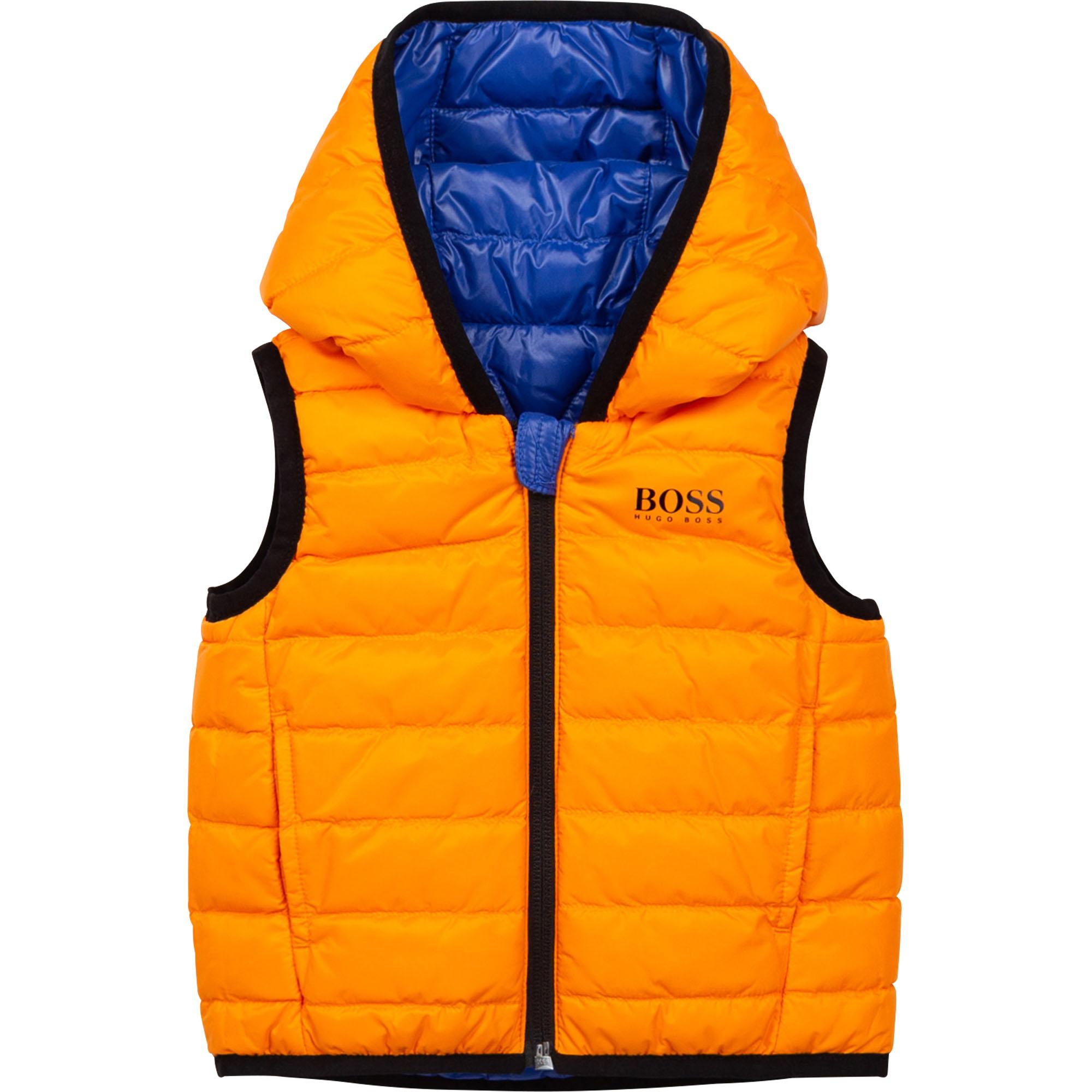 Sleeveless down body warmer BOSS for BOY