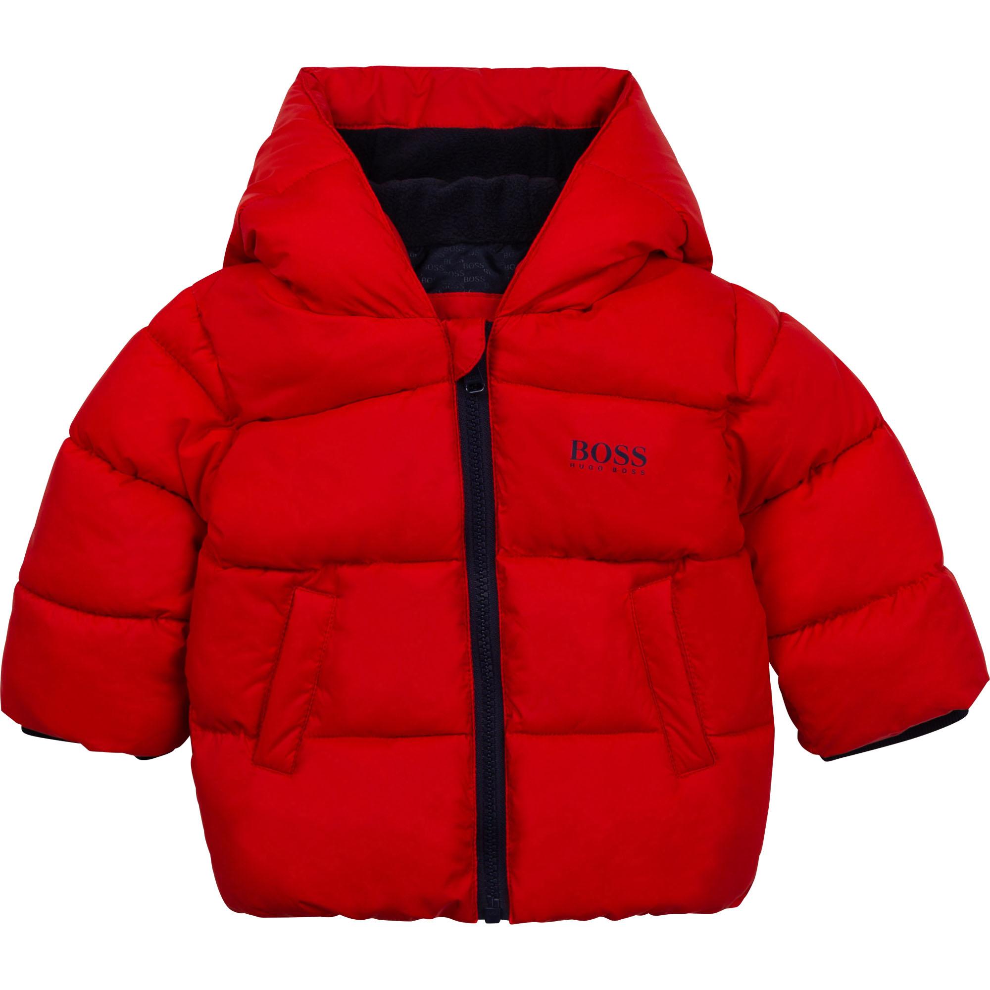 Hooded puffer jacket BOSS for BOY