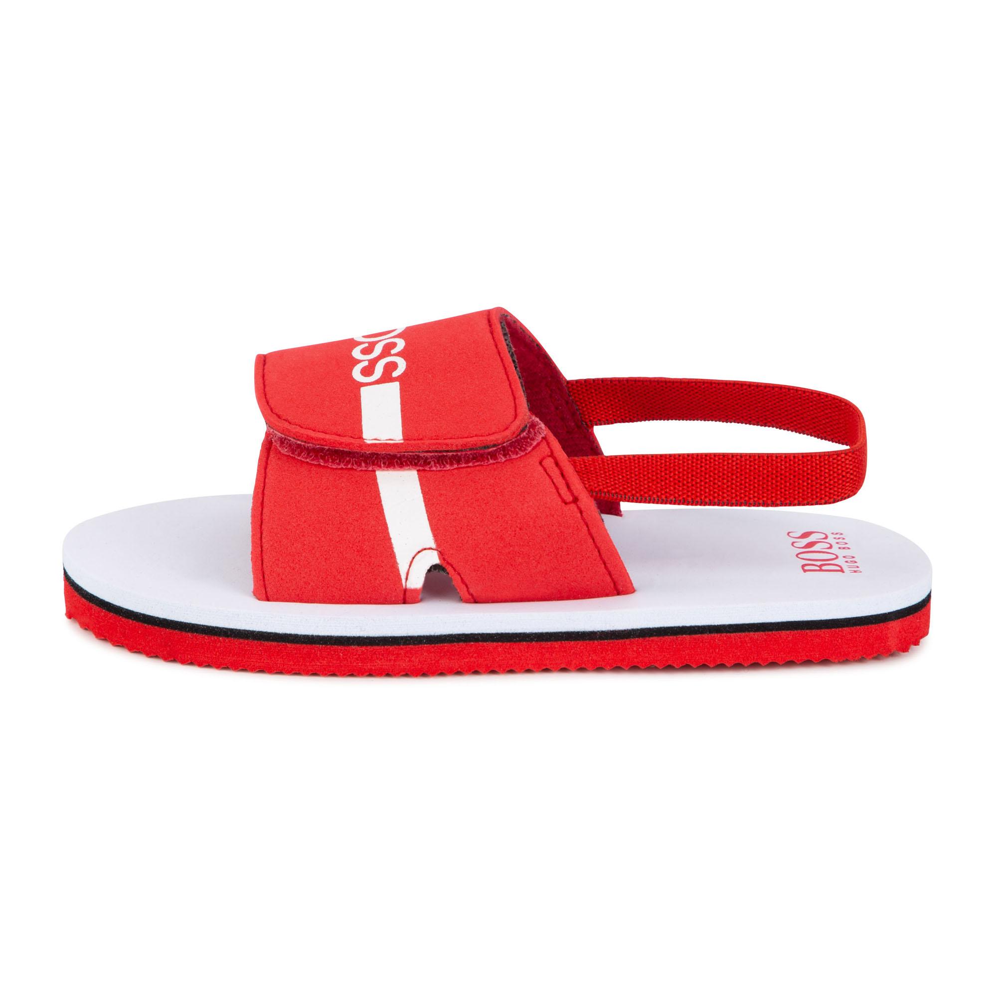 Hook-and-loop flip-flops BOSS for BOY