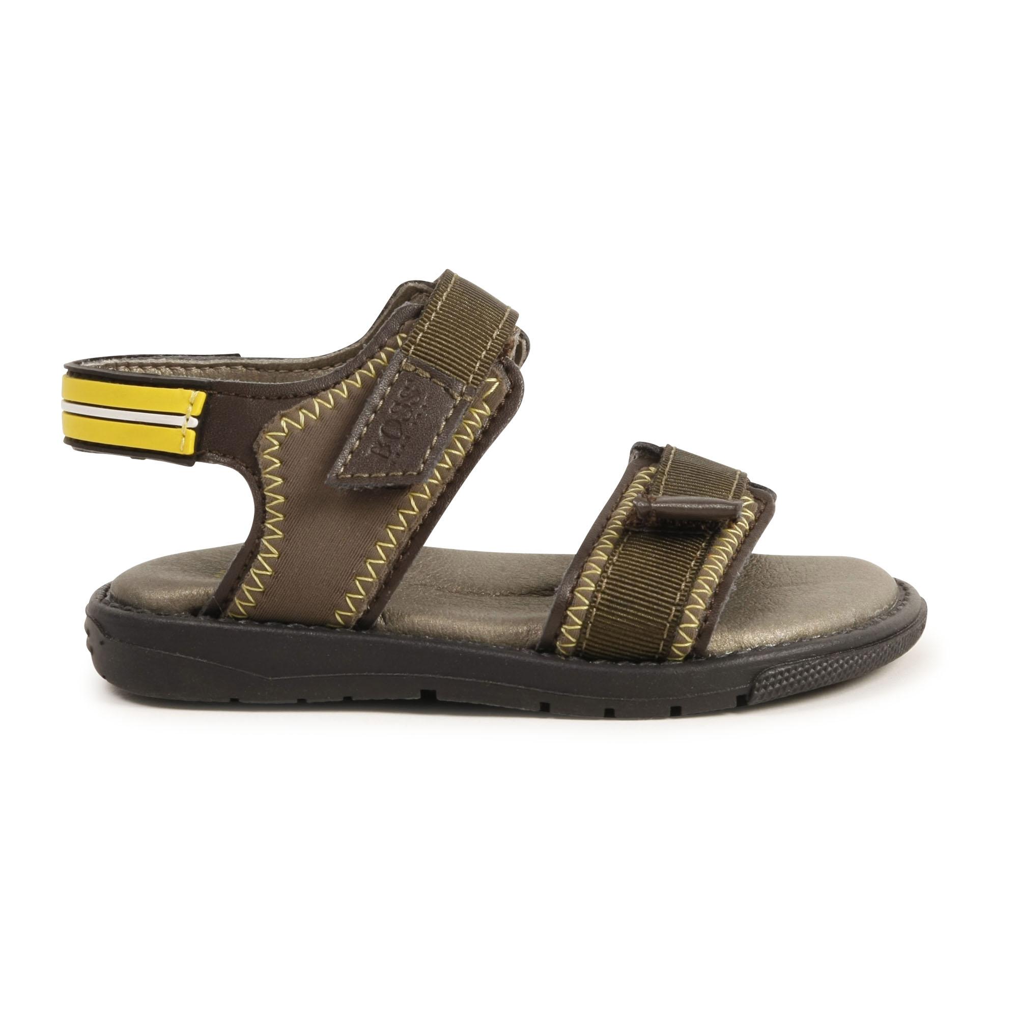 Sandales bicolores à scratch BOSS pour GARCON