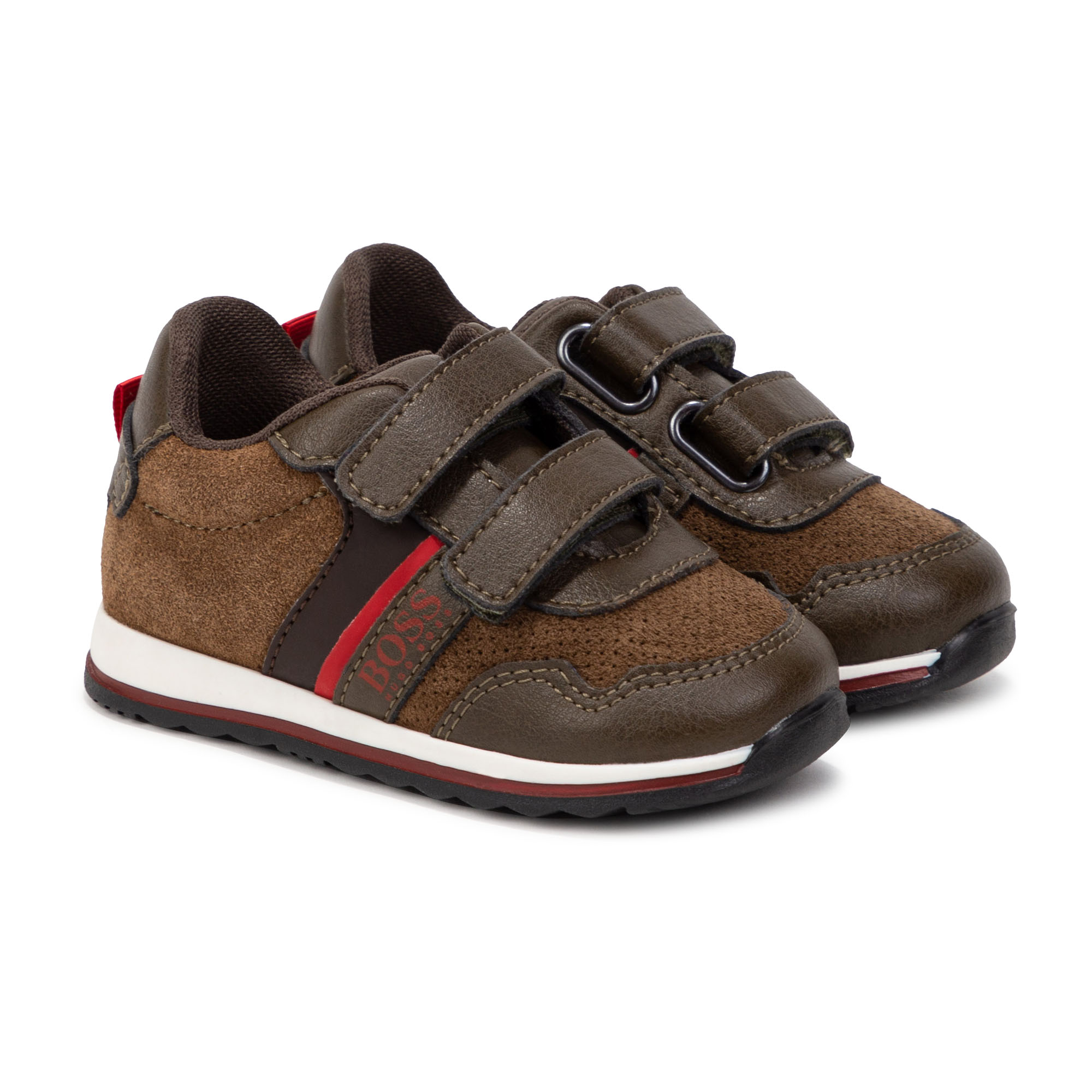Leather low-top sneakers BOSS for BOY