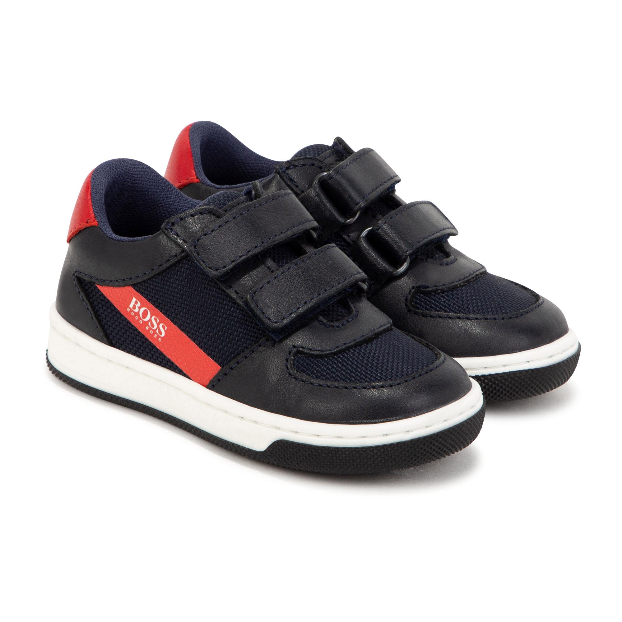 Hook-and-loop sneakers BOSS for BOY
