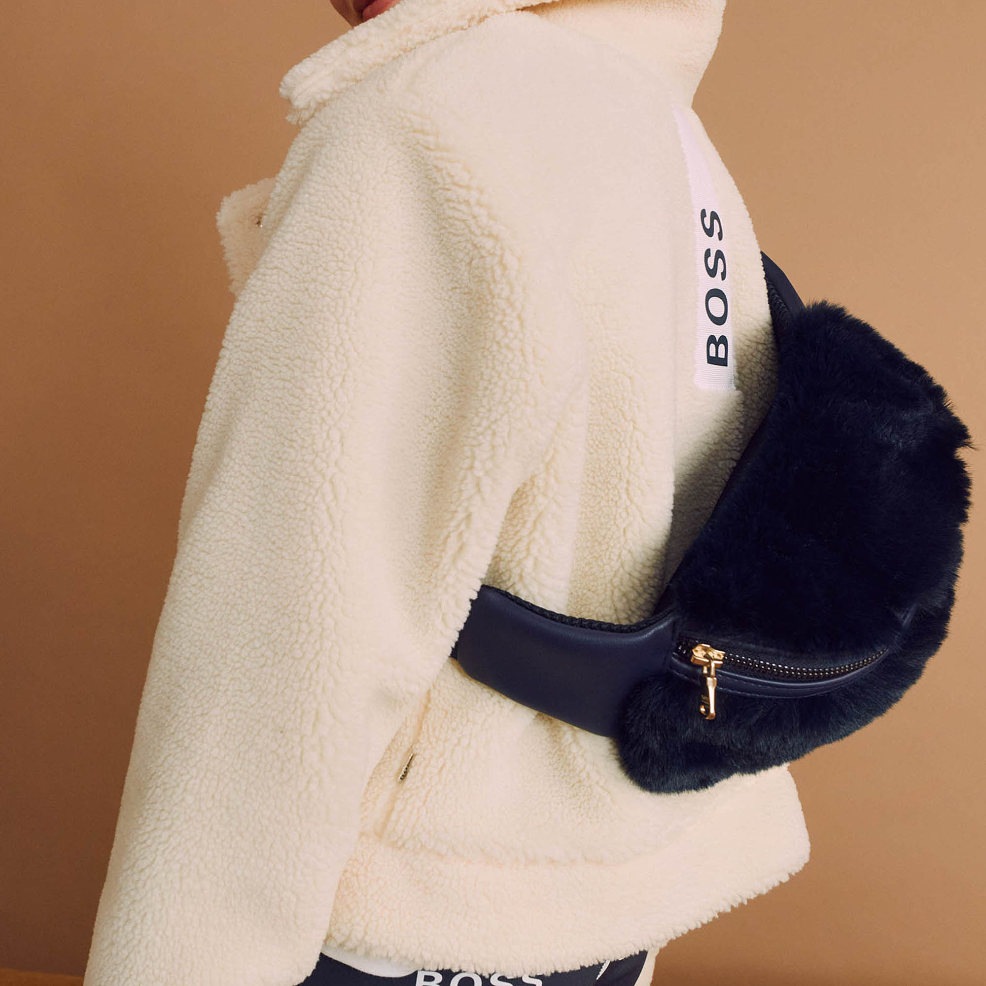 Faux fur fanny pack BOSS for GIRL