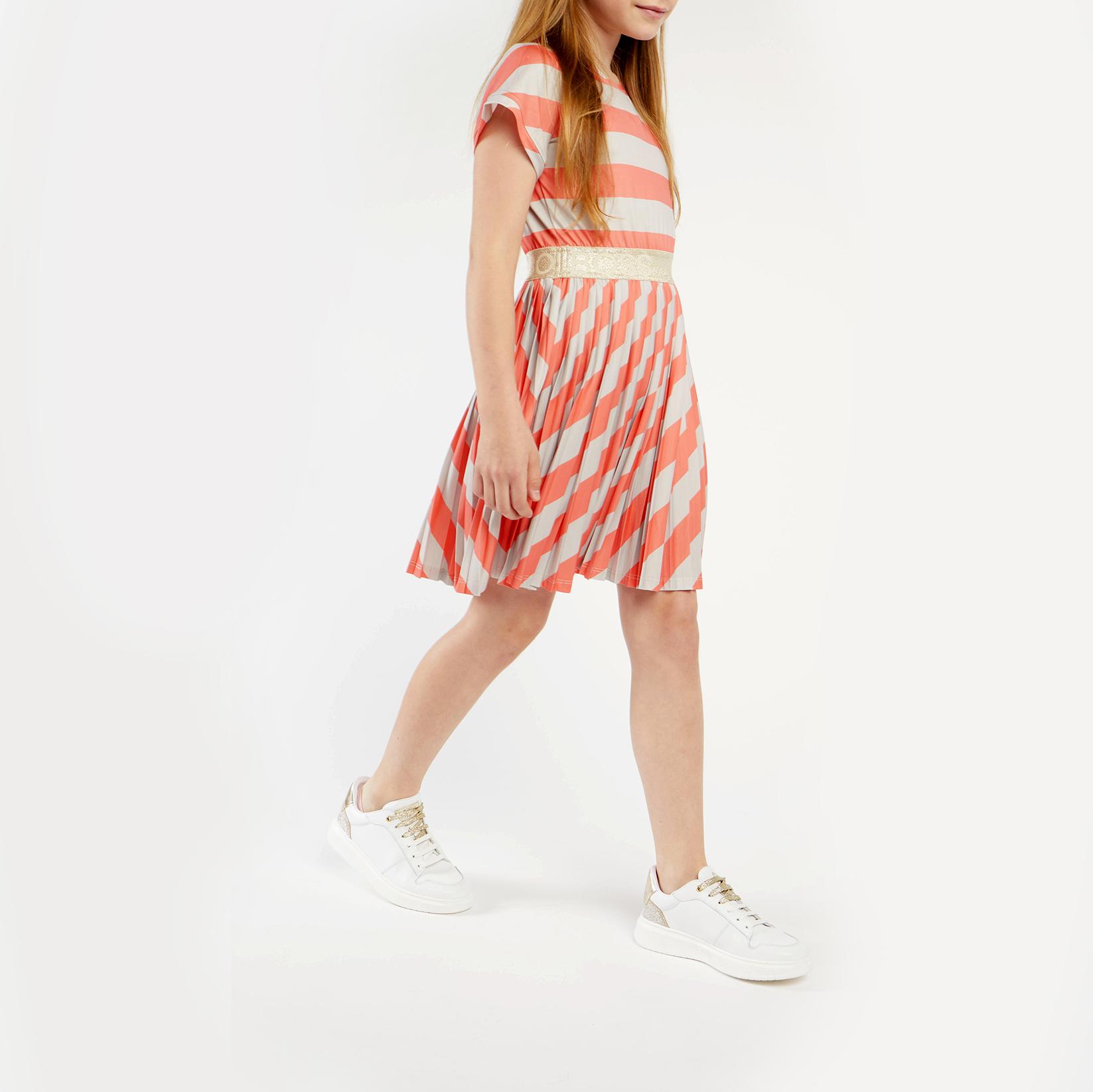 Flowing striped jersey dress BOSS for GIRL