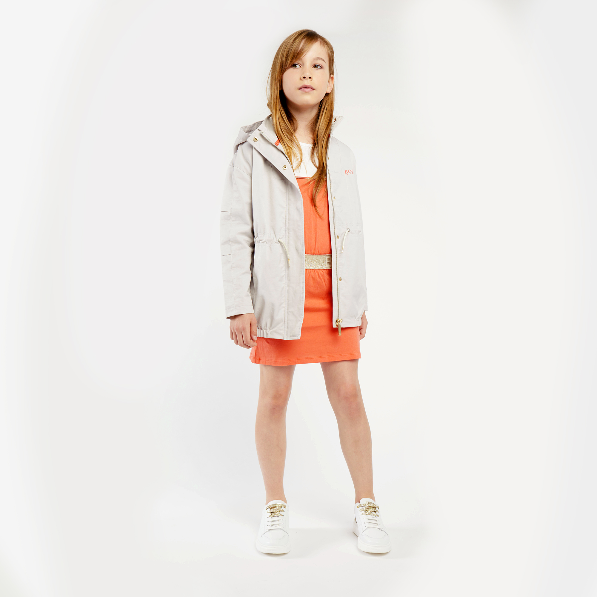 Modal and cotton jersey dress BOSS for GIRL