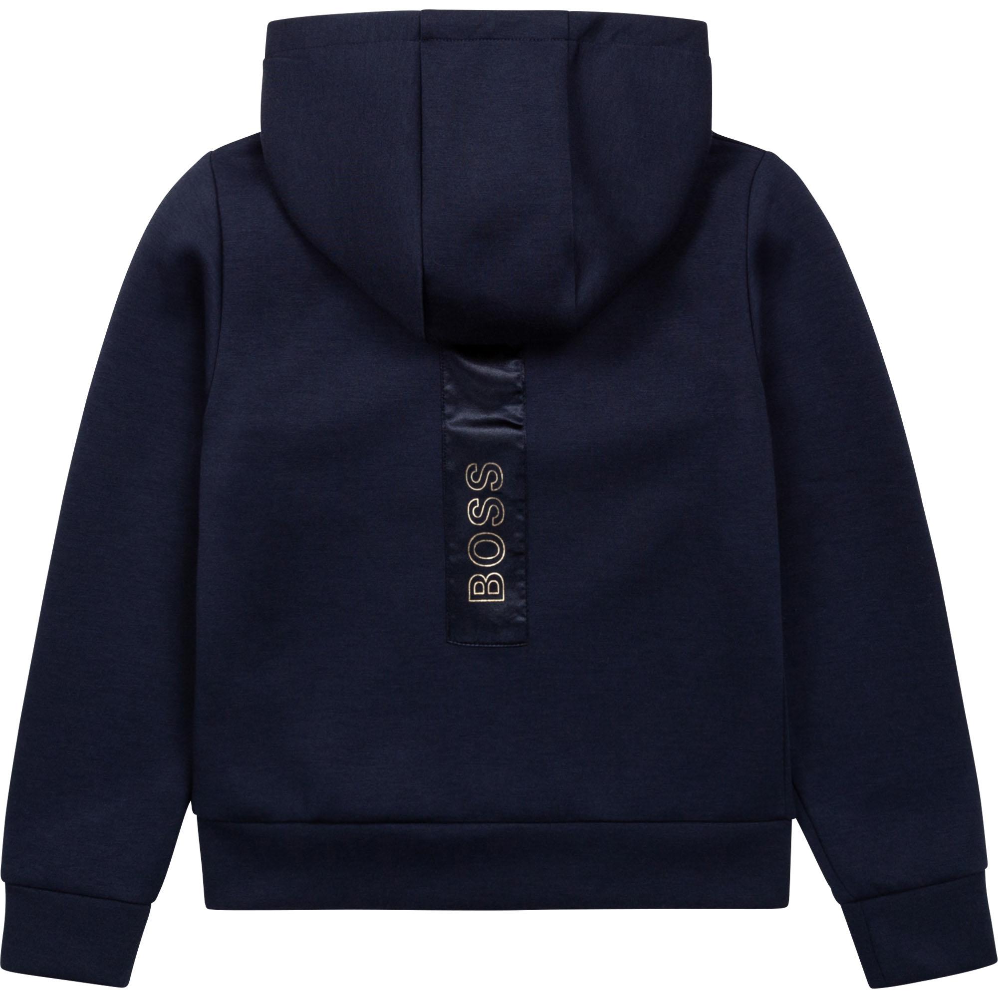 Hooded jogging cardigan BOSS for GIRL