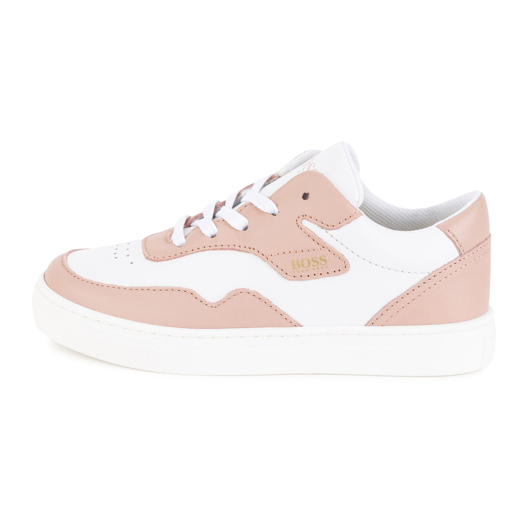 Baskets en cuir bicolores BOSS pour FILLE