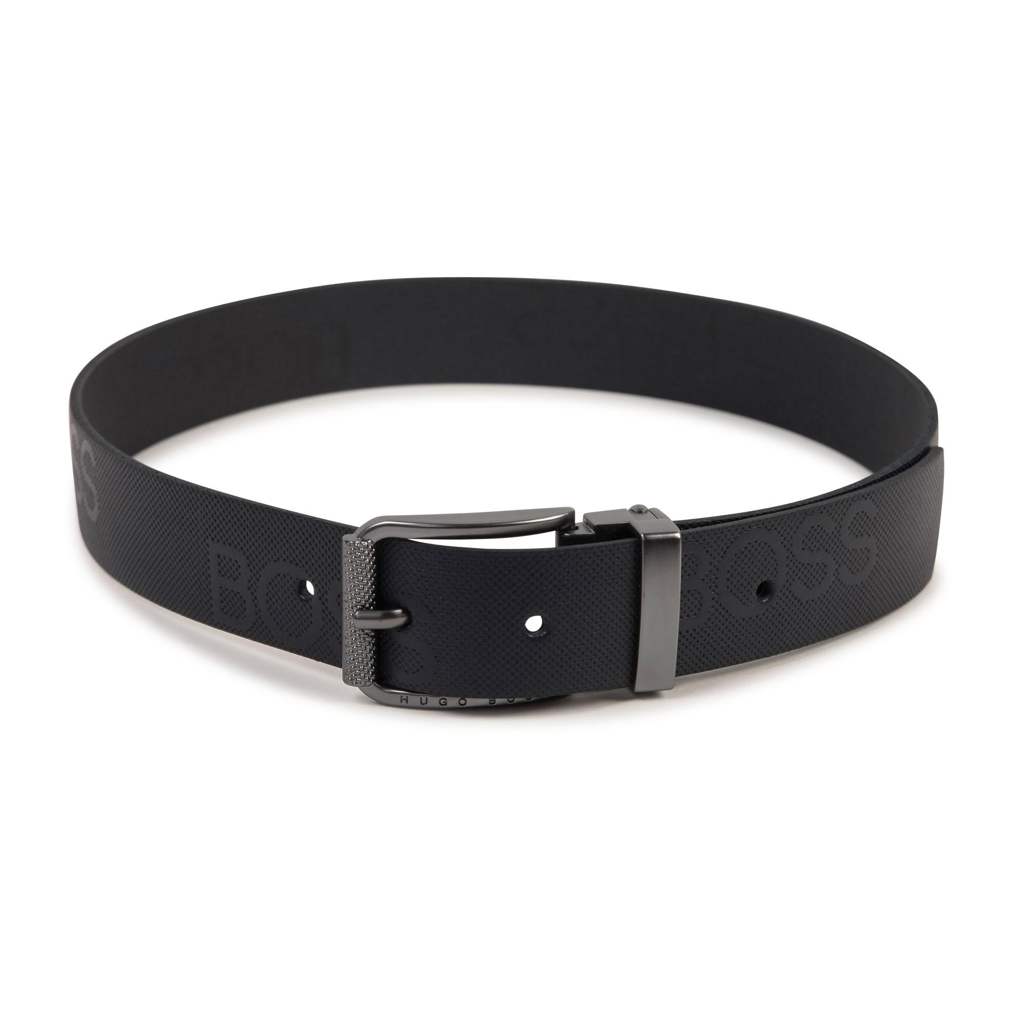 Leather belt BOSS for BOY