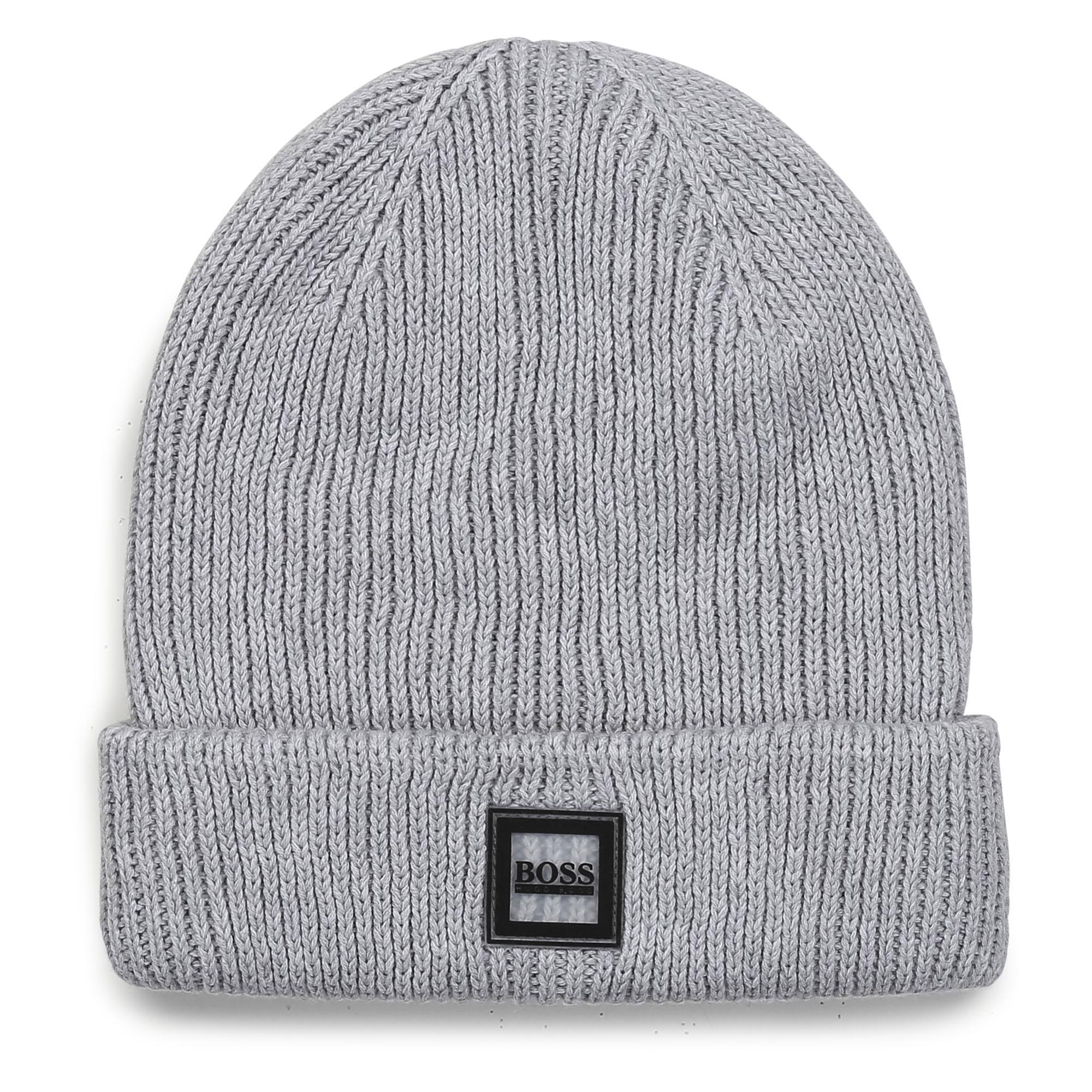 1x1 rib knit hat BOSS for BOY