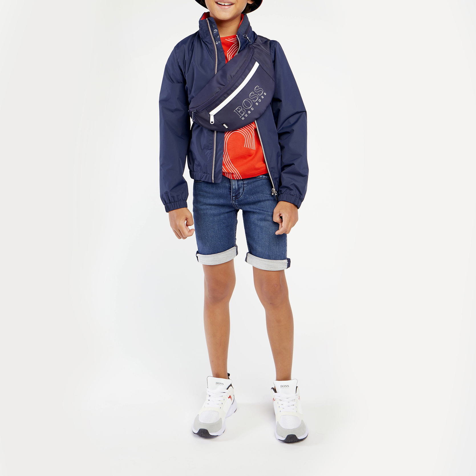 DENIM BERMUDA SHORTS BOSS for BOY