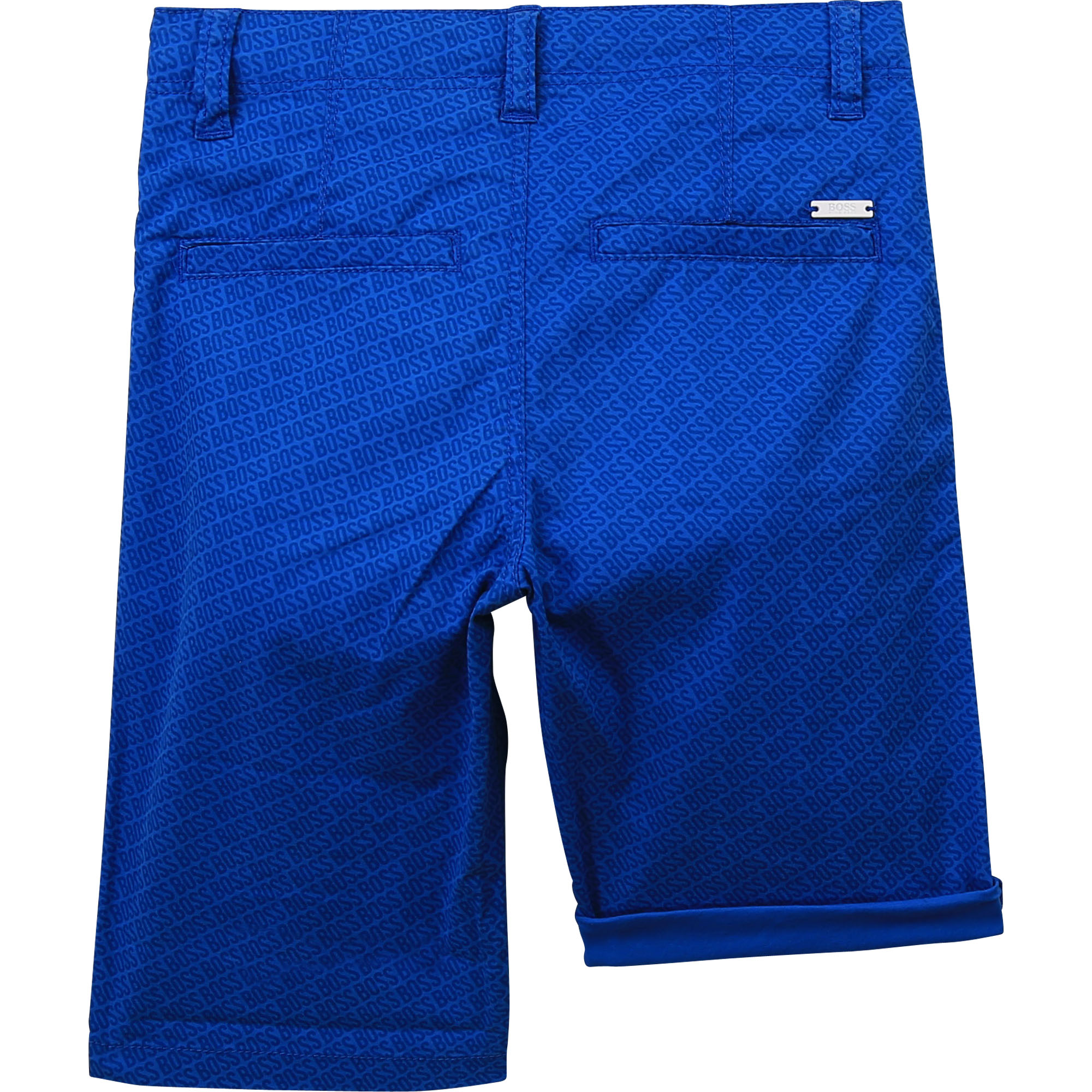 Printed twill bermuda shorts BOSS for BOY