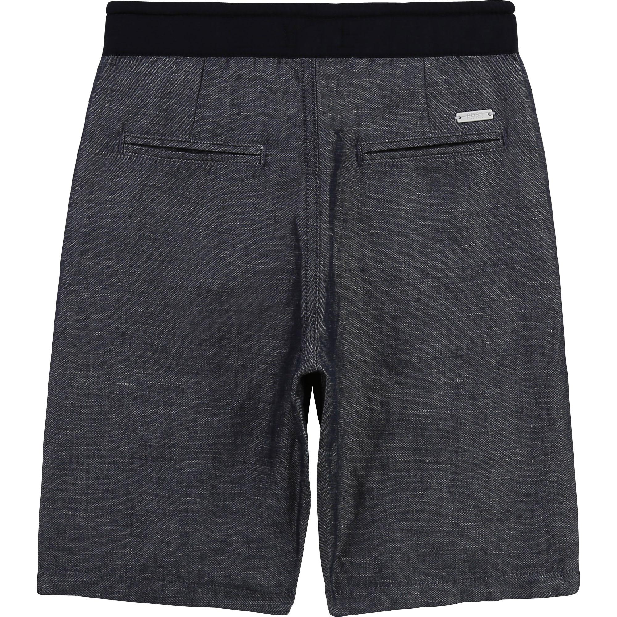 Linen and cotton bermuda shorts BOSS for BOY