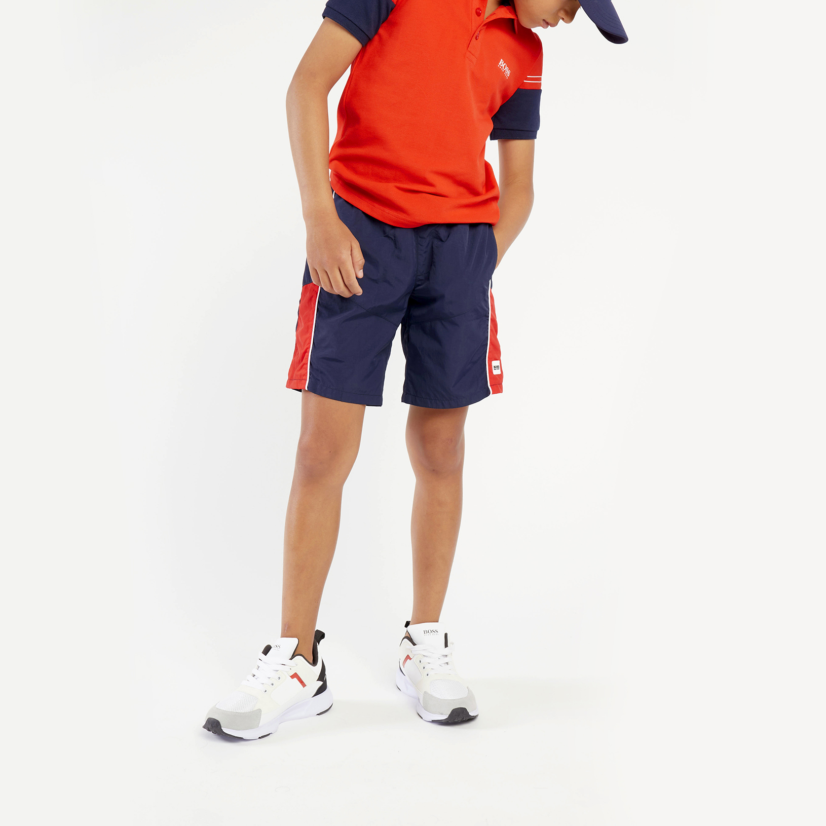 bermuda shorts with oversize logo BOSS for BOY