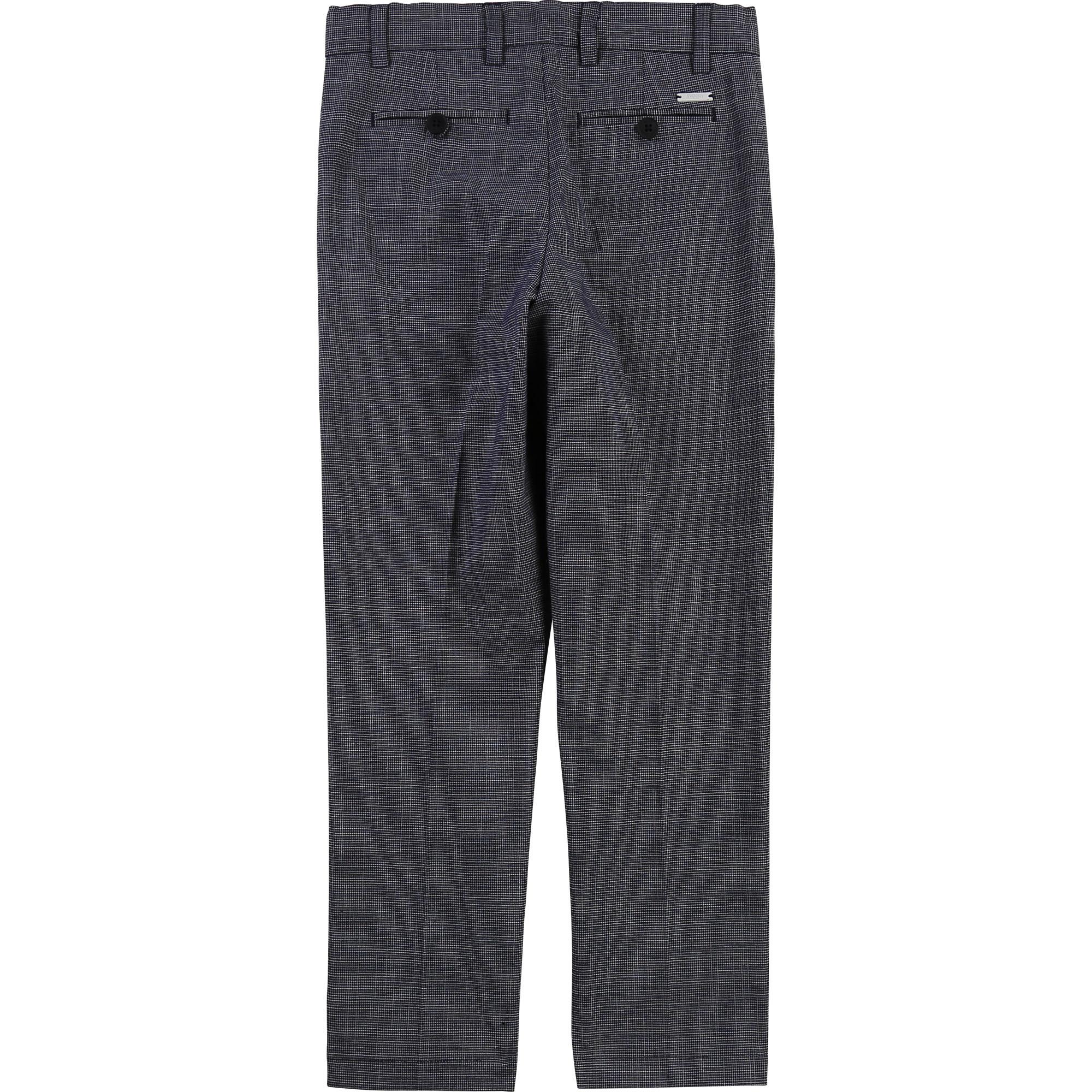 Pantalon de costume en coton BOSS pour GARCON