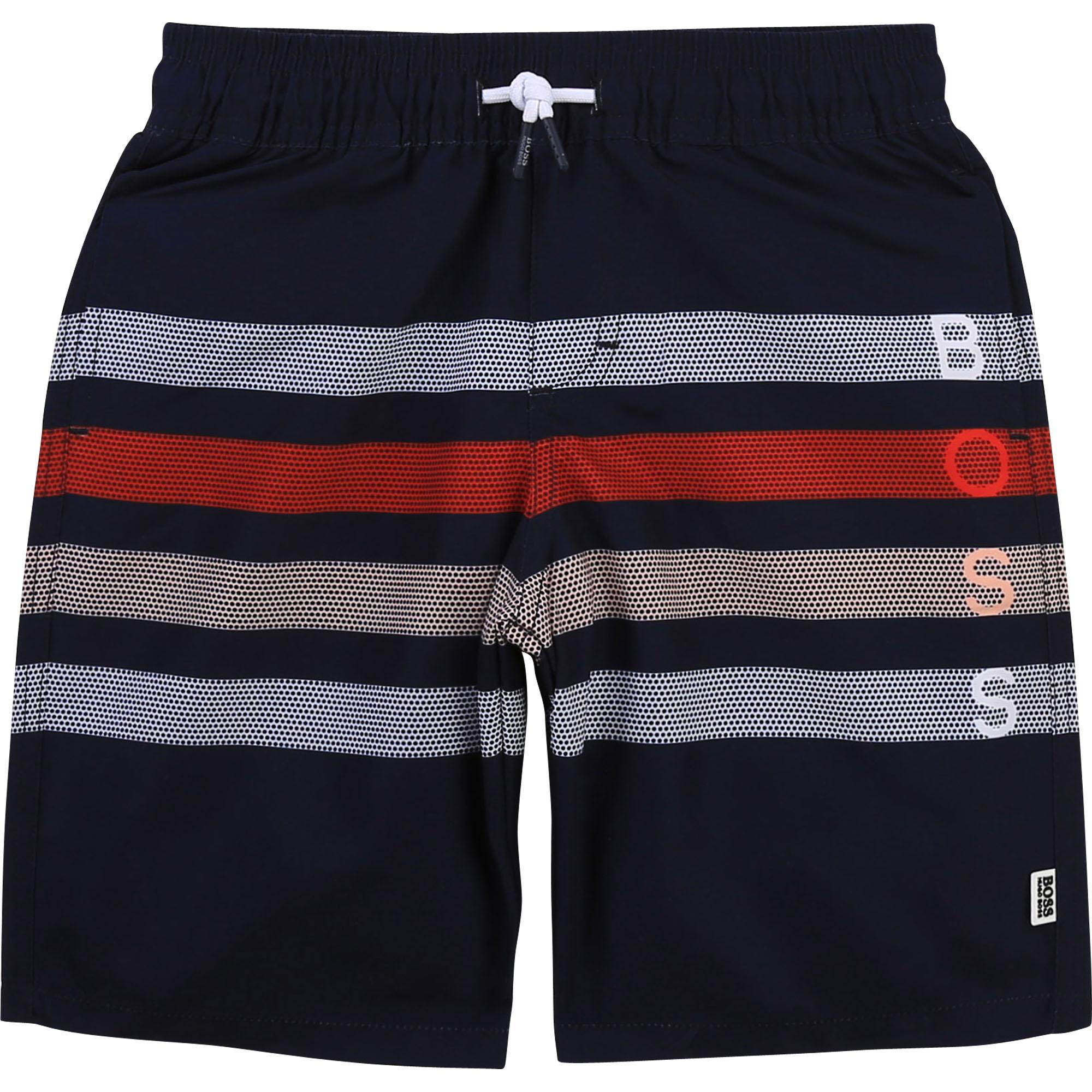 Striped bathing trunks BOSS for BOY