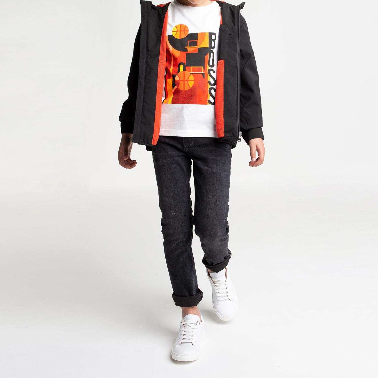 T-shirt slim 1% coton BOSS pour GARCON