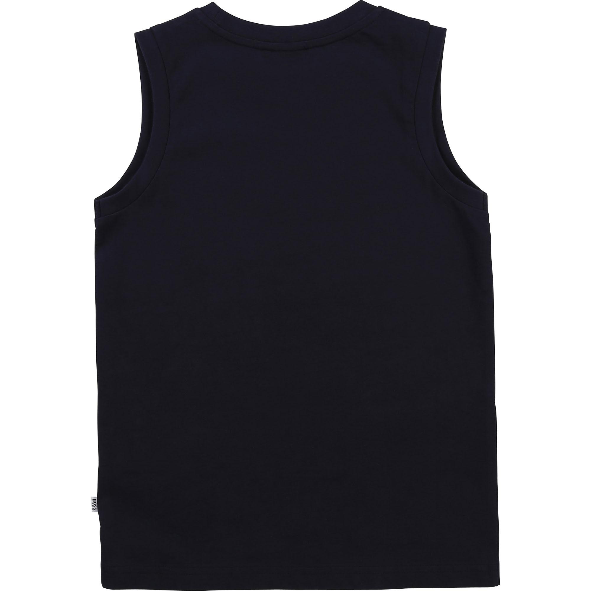 Cotton vest top BOSS for BOY